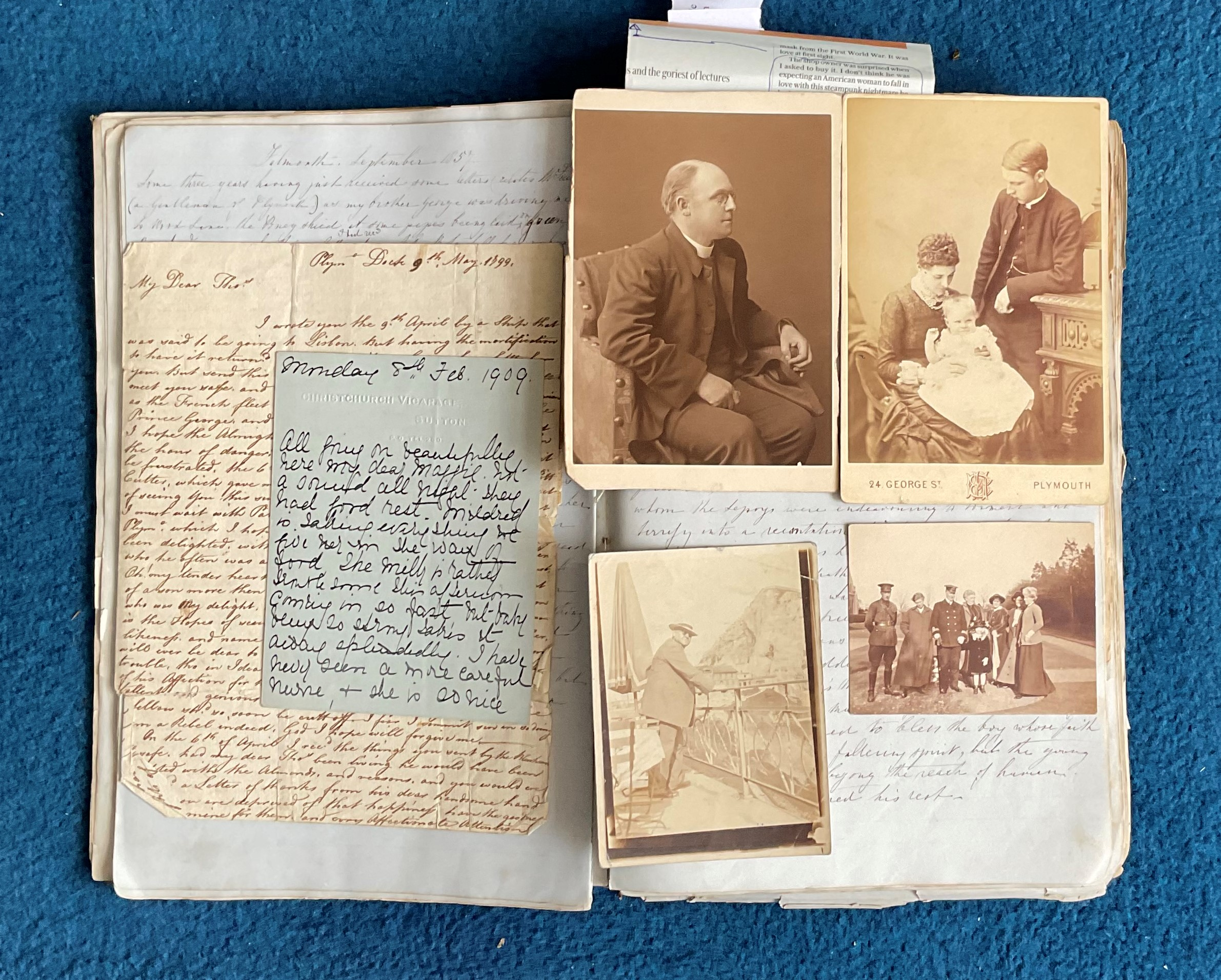 Victorian Scrapbook 1850s onwards containing a mixture of items Letters, Flyers, Photos & - Image 5 of 11