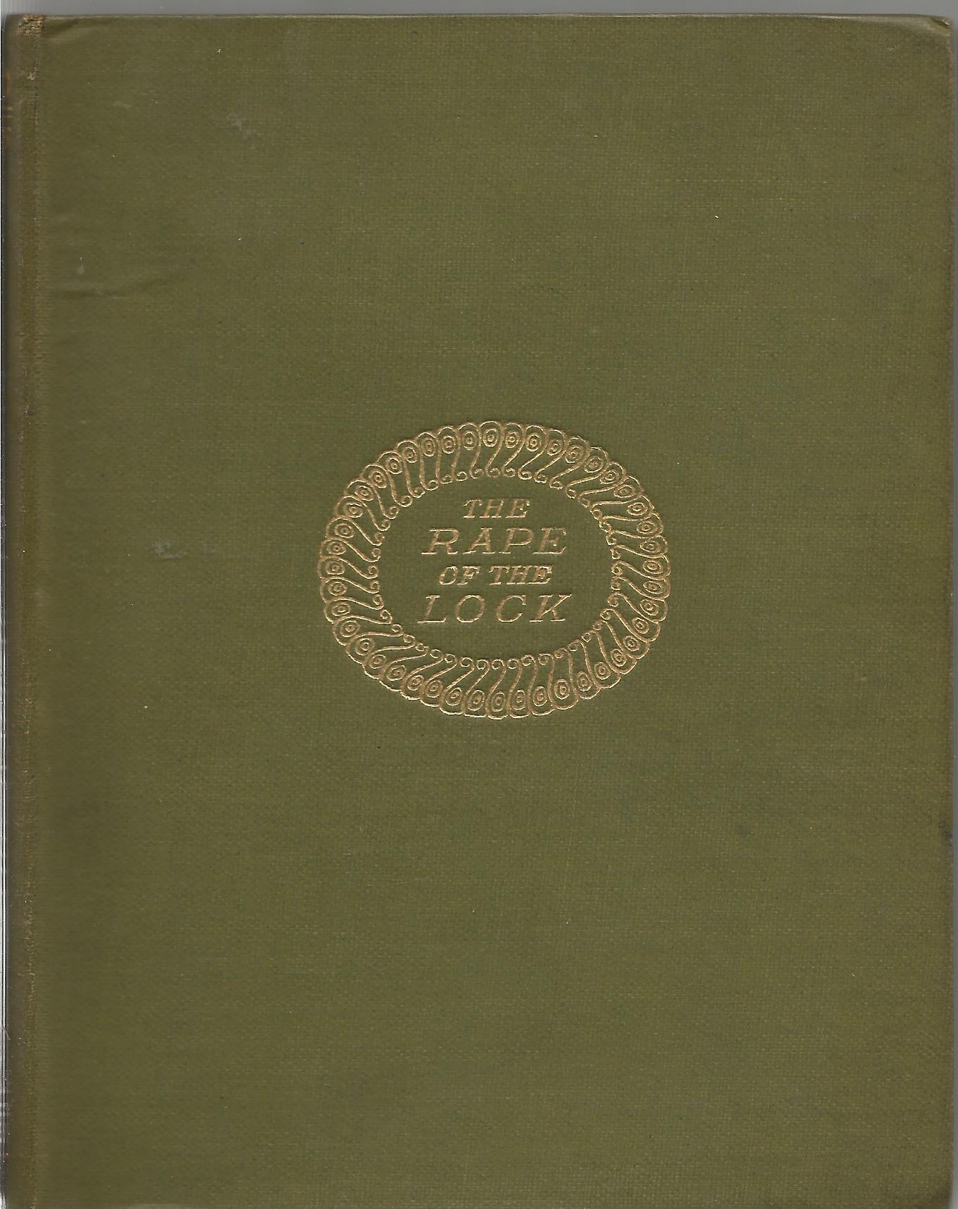Hardback Book The Rape of The Lock by Alexander Pope Illustrations by Aubrey Beardsley 1916 Second