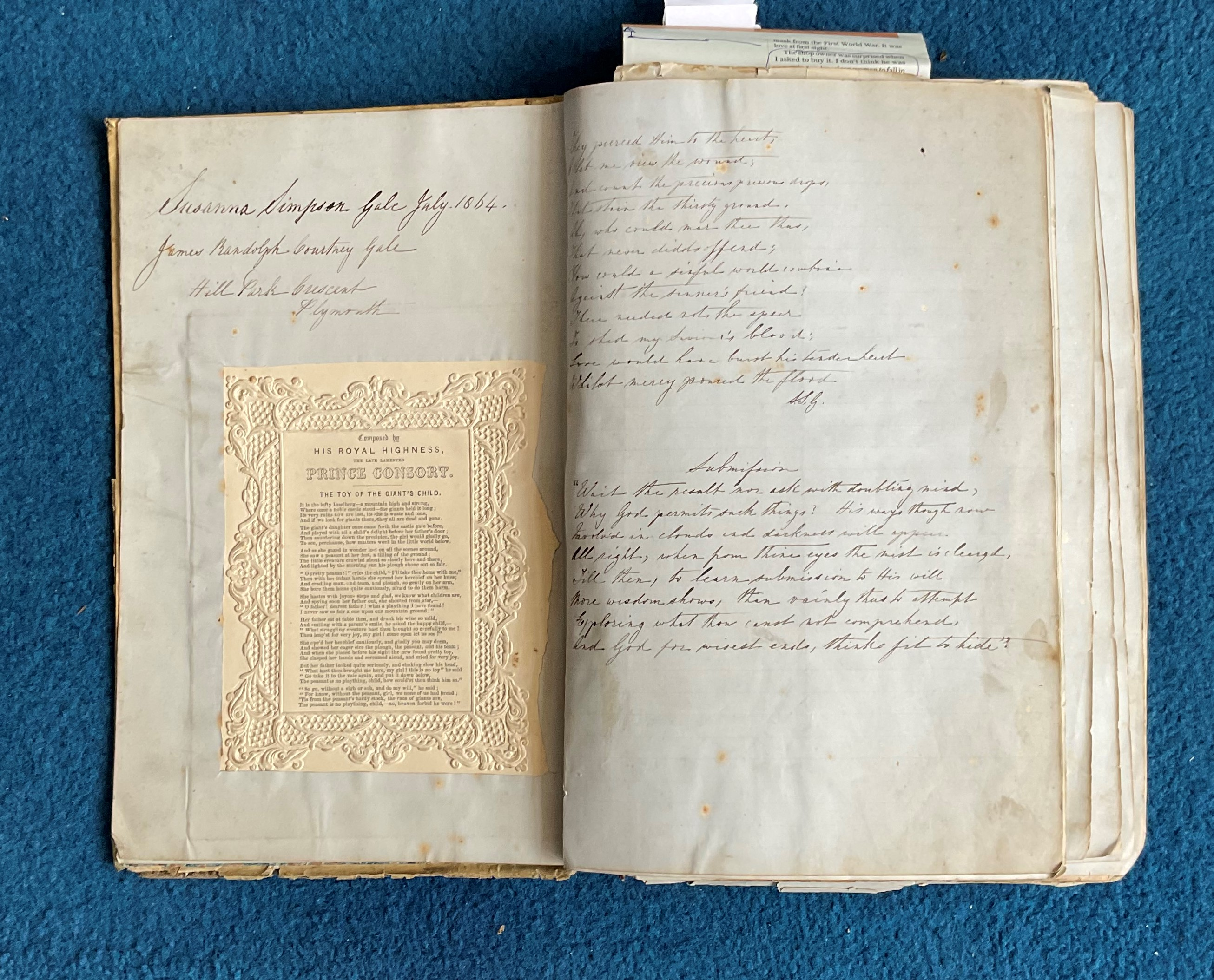 Victorian Scrapbook 1850s onwards containing a mixture of items Letters, Flyers, Photos & - Image 2 of 11