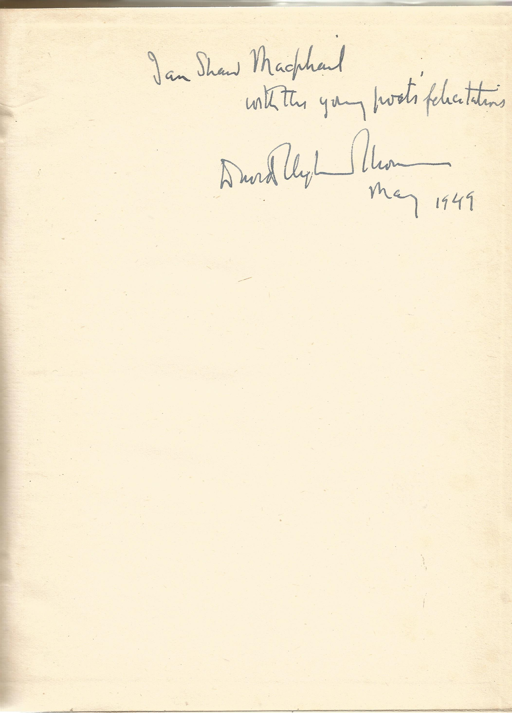 David Cleghorn Thomson Hardback Book The Hidden Path 1943 signed by the Author on the First Page and - Image 2 of 2
