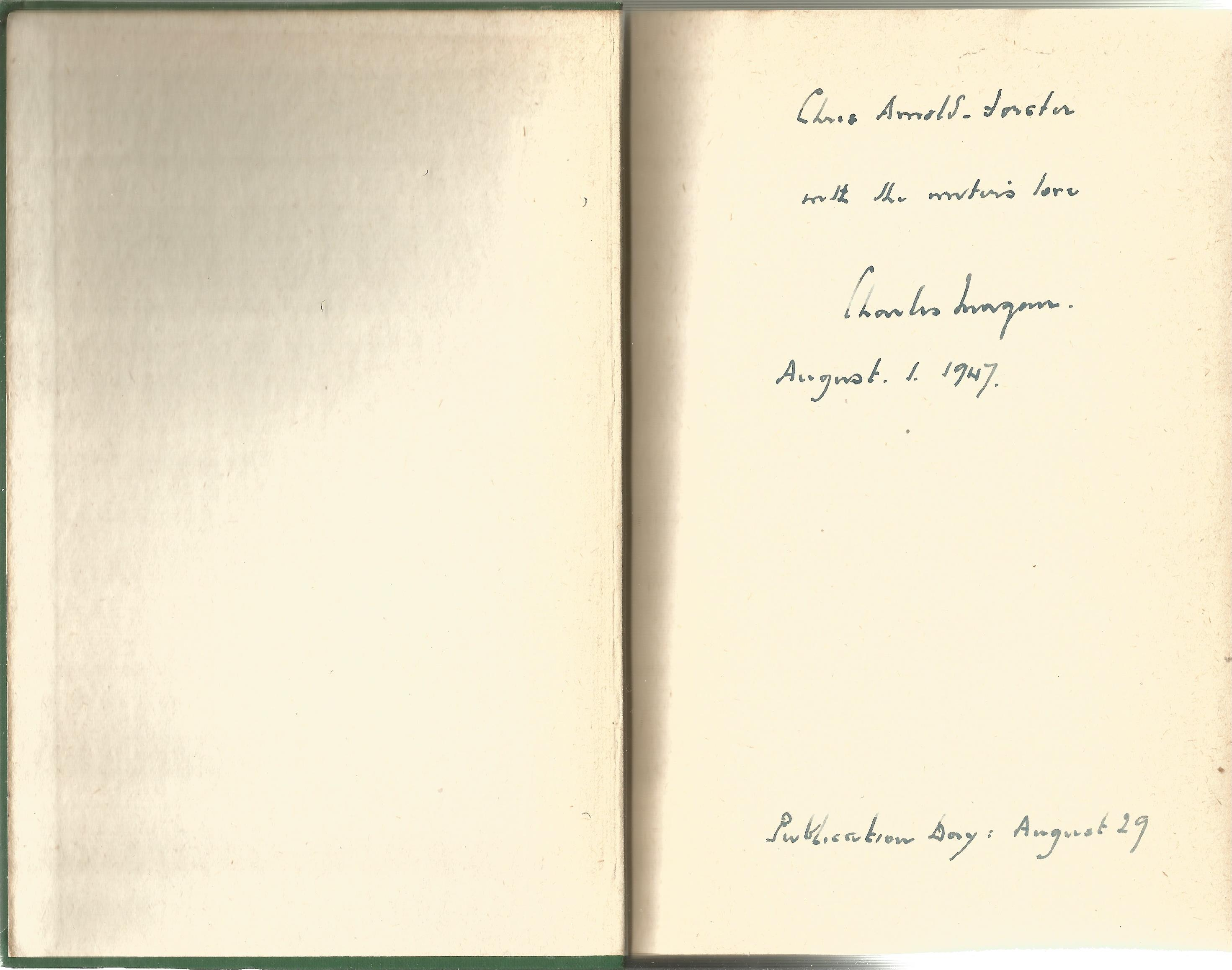 Charles Morgan Hardback Book The Judges Story signed by the Author on the First Page and dated 1st - Image 2 of 2