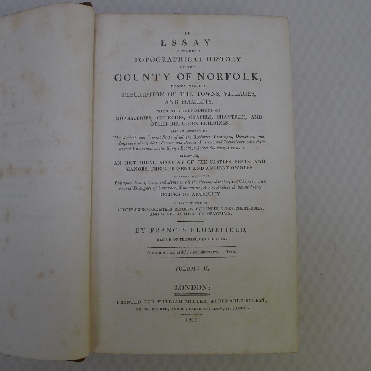 All 11 volumes of An Essay Towards the Topographical History of the County of Norfolk by Thomas - Image 10 of 23