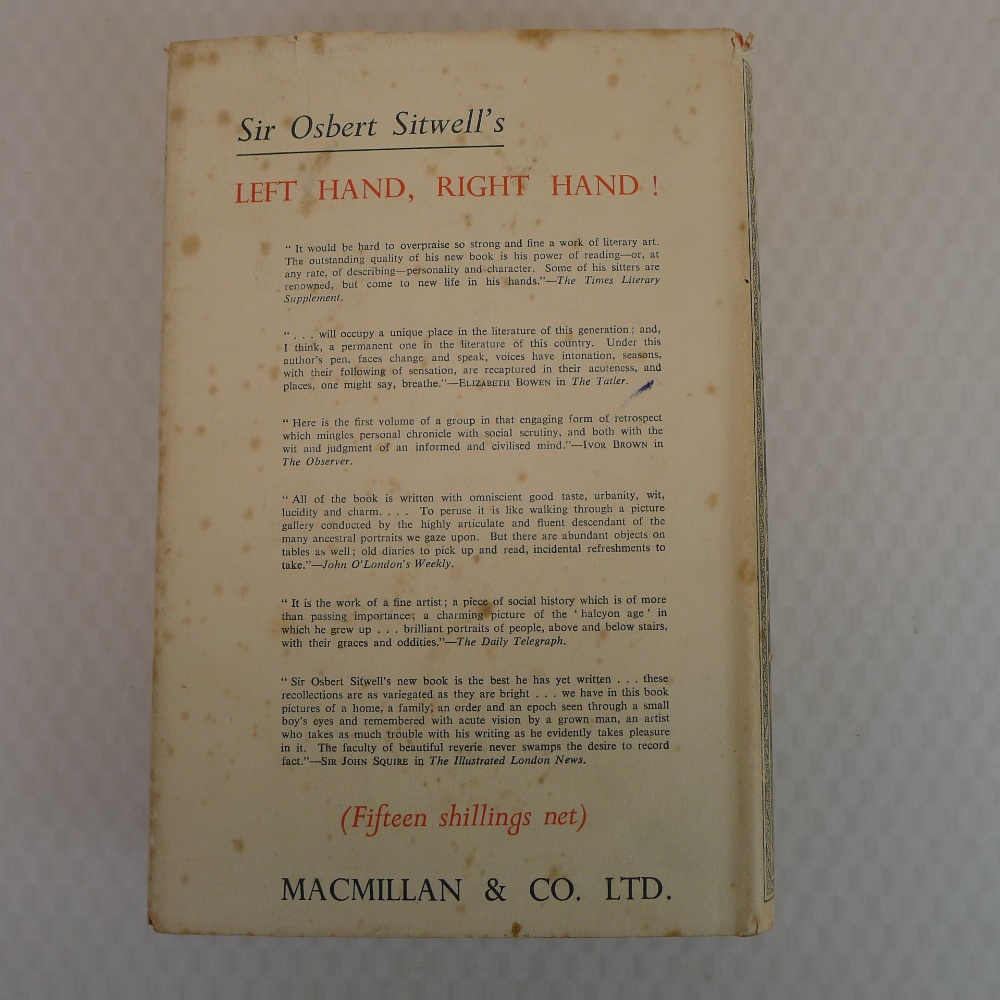 The Scarlet Tree by Osbert Sitwell published by MacMillan London 1946, First Edition hardback, - Image 2 of 3