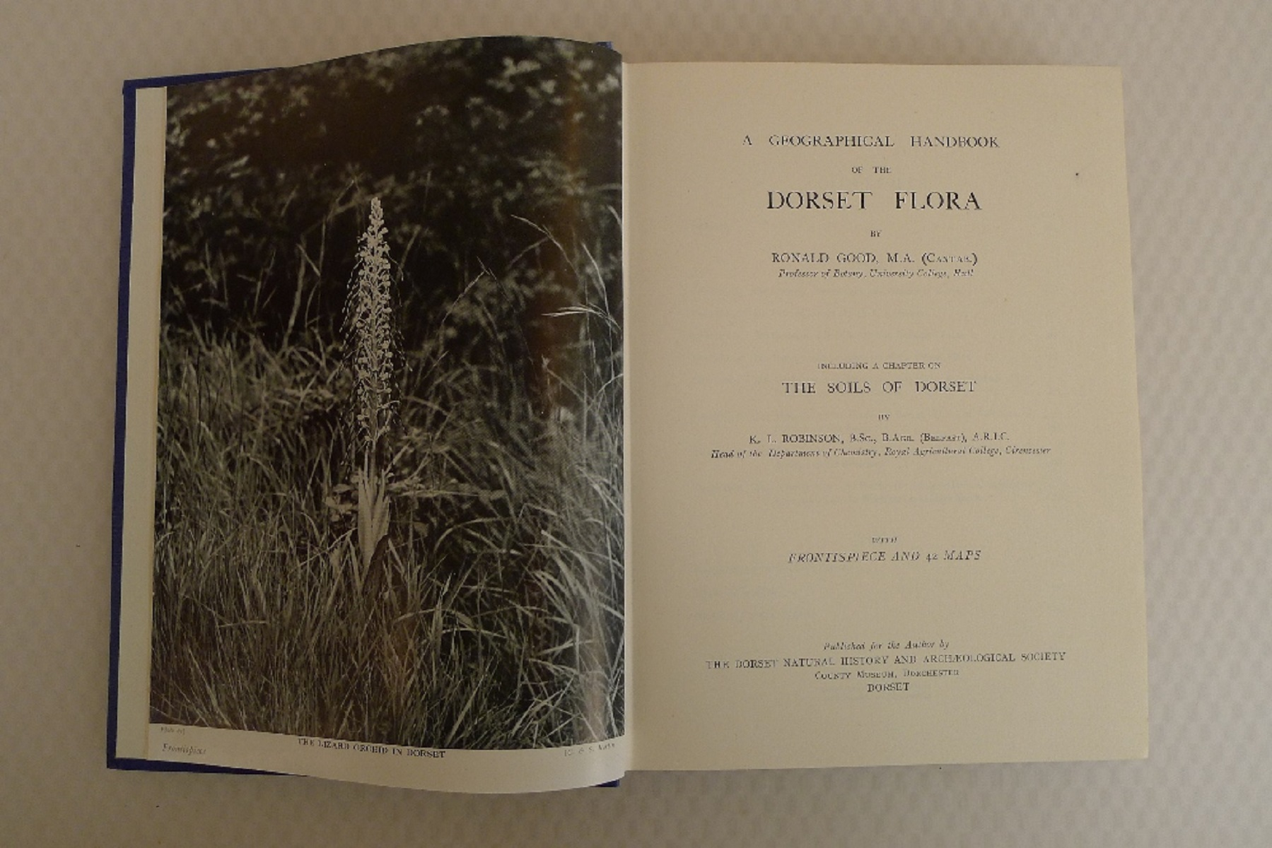 A Geographical Handbook of The Dorset Flora by Ronald Good with Frontispiece and 42 maps and a - Image 4 of 4