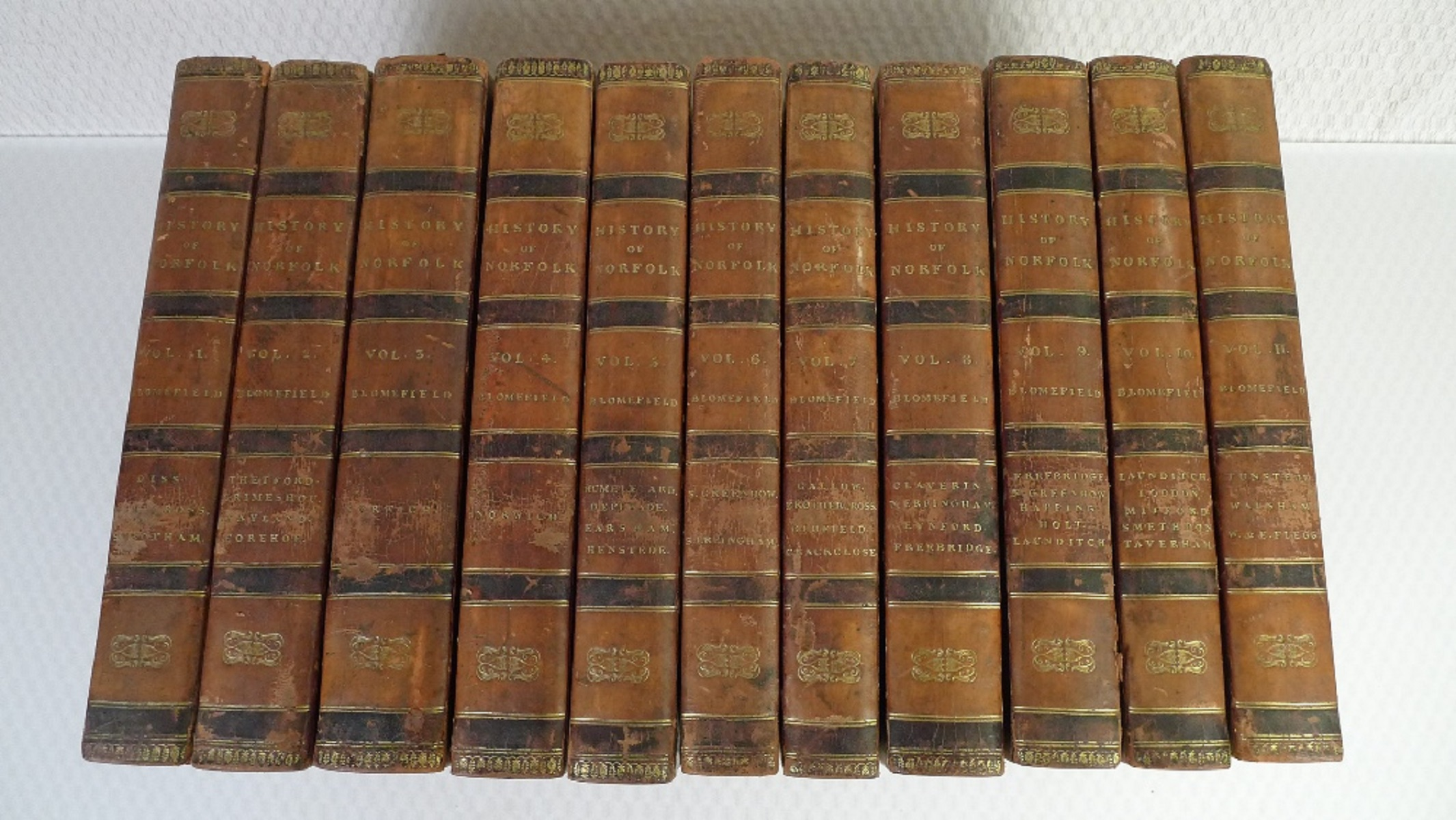All 11 volumes of An Essay Towards the Topographical History of the County of Norfolk by Thomas - Image 2 of 23