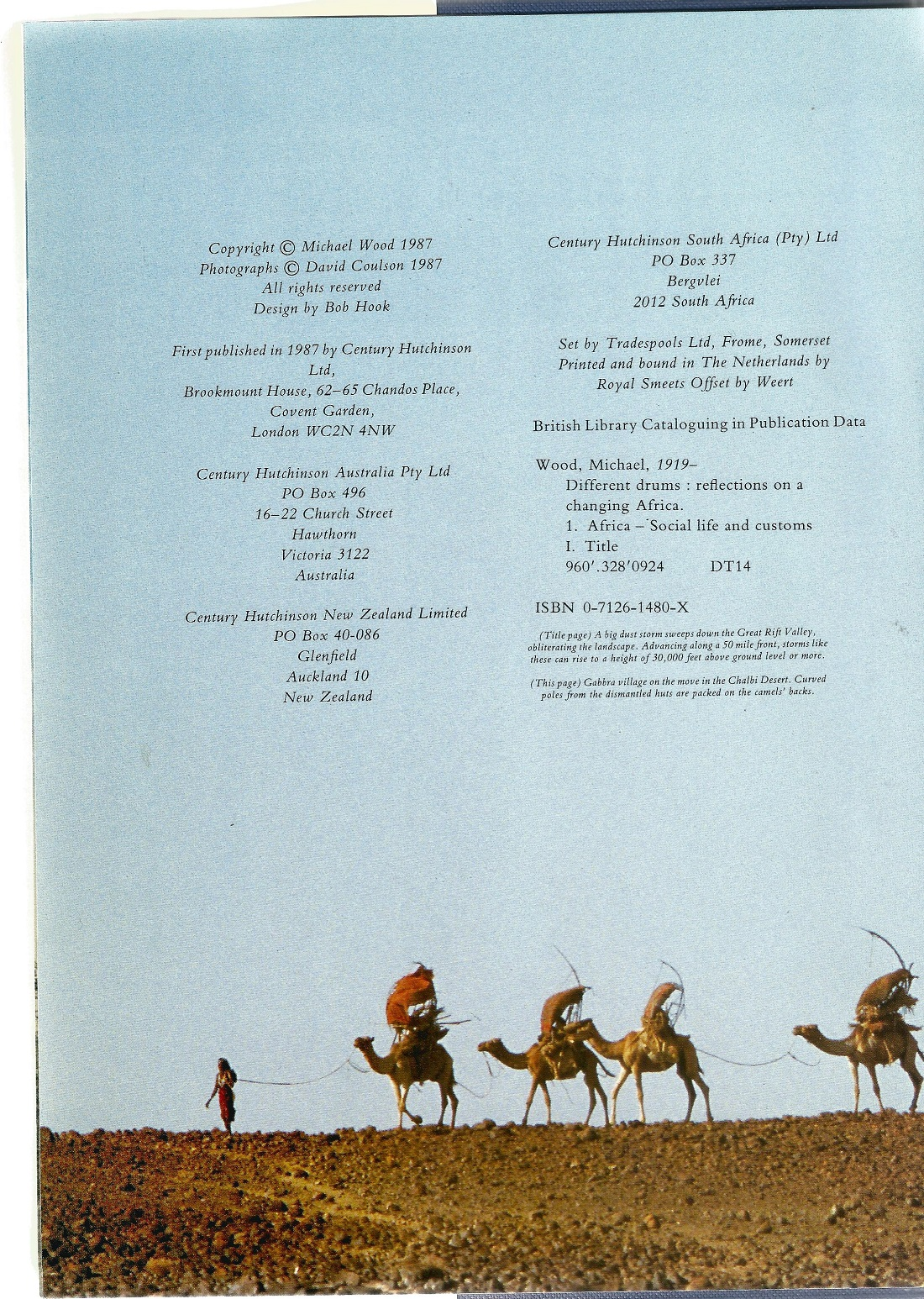 Signed Hardback Book Different Drums Reflections on a changing Africa by Michael Wood with photos by - Image 7 of 7