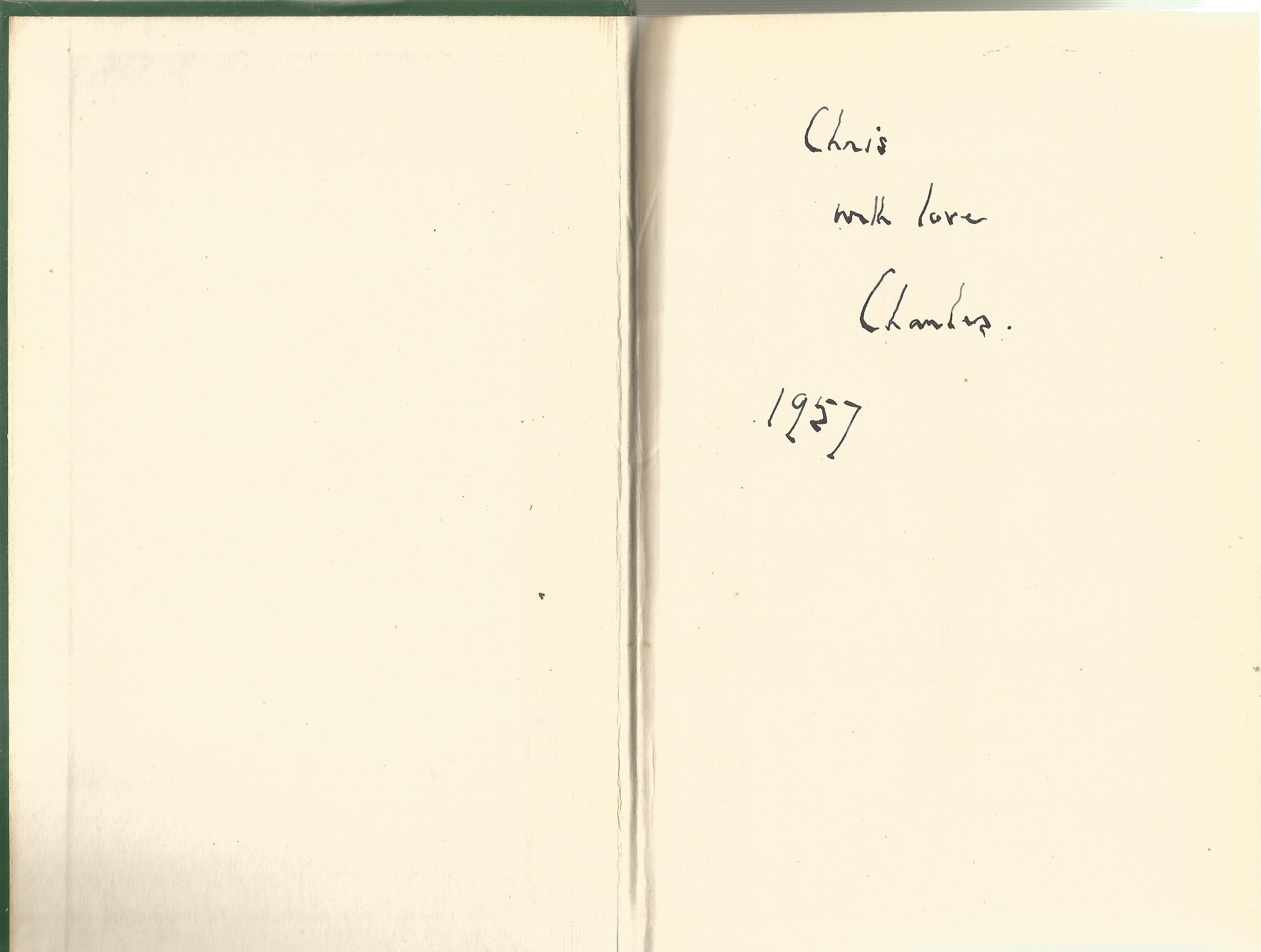 Charles Morgan Hardback Book Challenge to Venus 1957 signed by the Author on the First Page and - Image 2 of 2