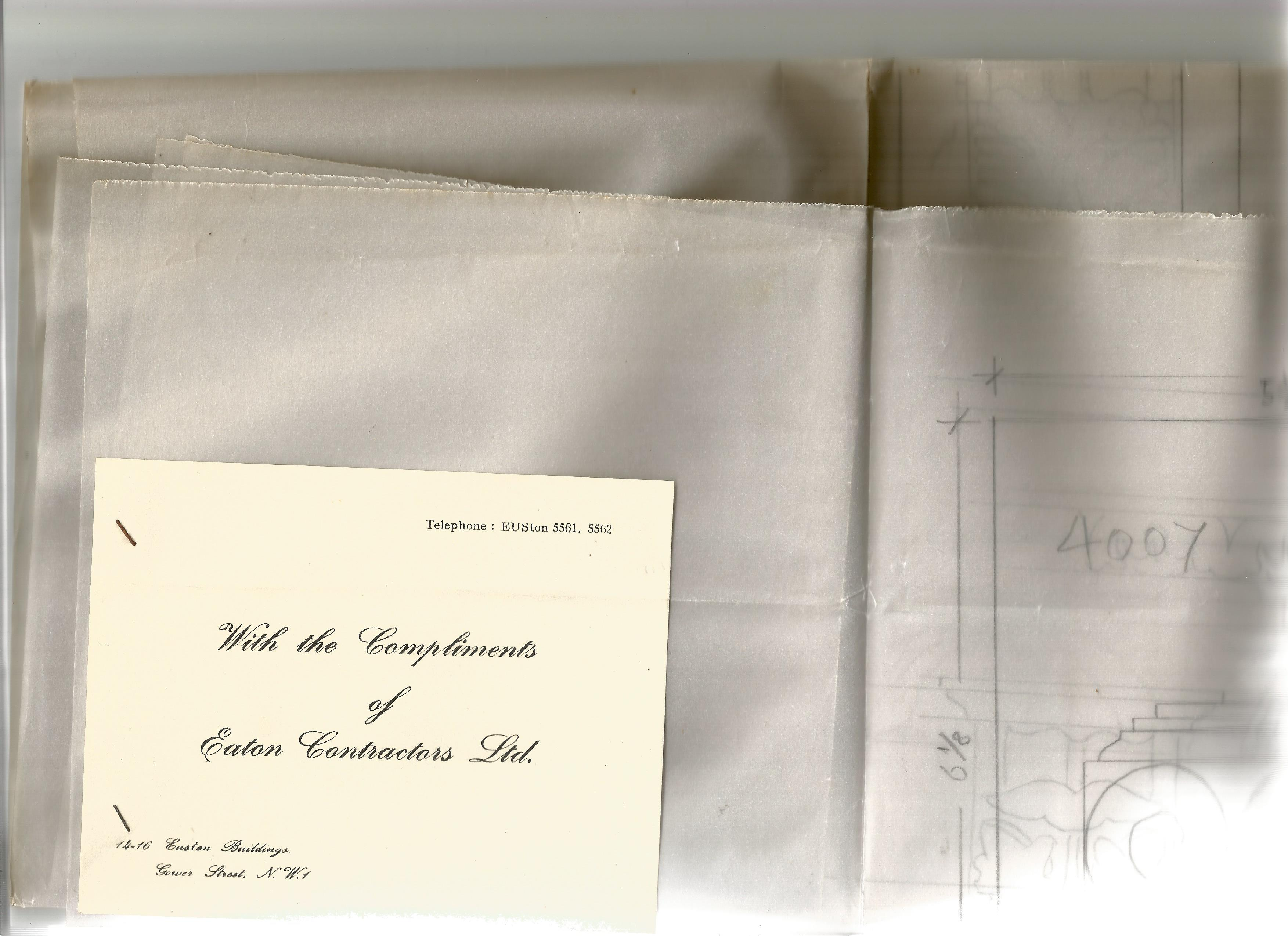 Architectural Drawings & Diagrams for Alterations at Bath Assembly Rooms in the 1960s Includes - Image 9 of 16