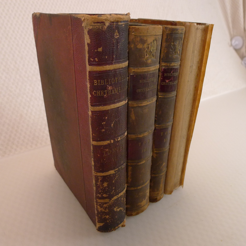 Volumes 1, 2, 3 and 6 of Bibliotheca Chethamensis (Catalogues of Books and Manuscripts) for the