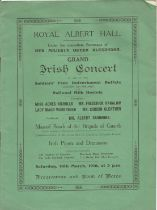 Musicals, 3 in House Brochures & Programme for Royal Albert Hall Irish Concert 18th March 1916, in