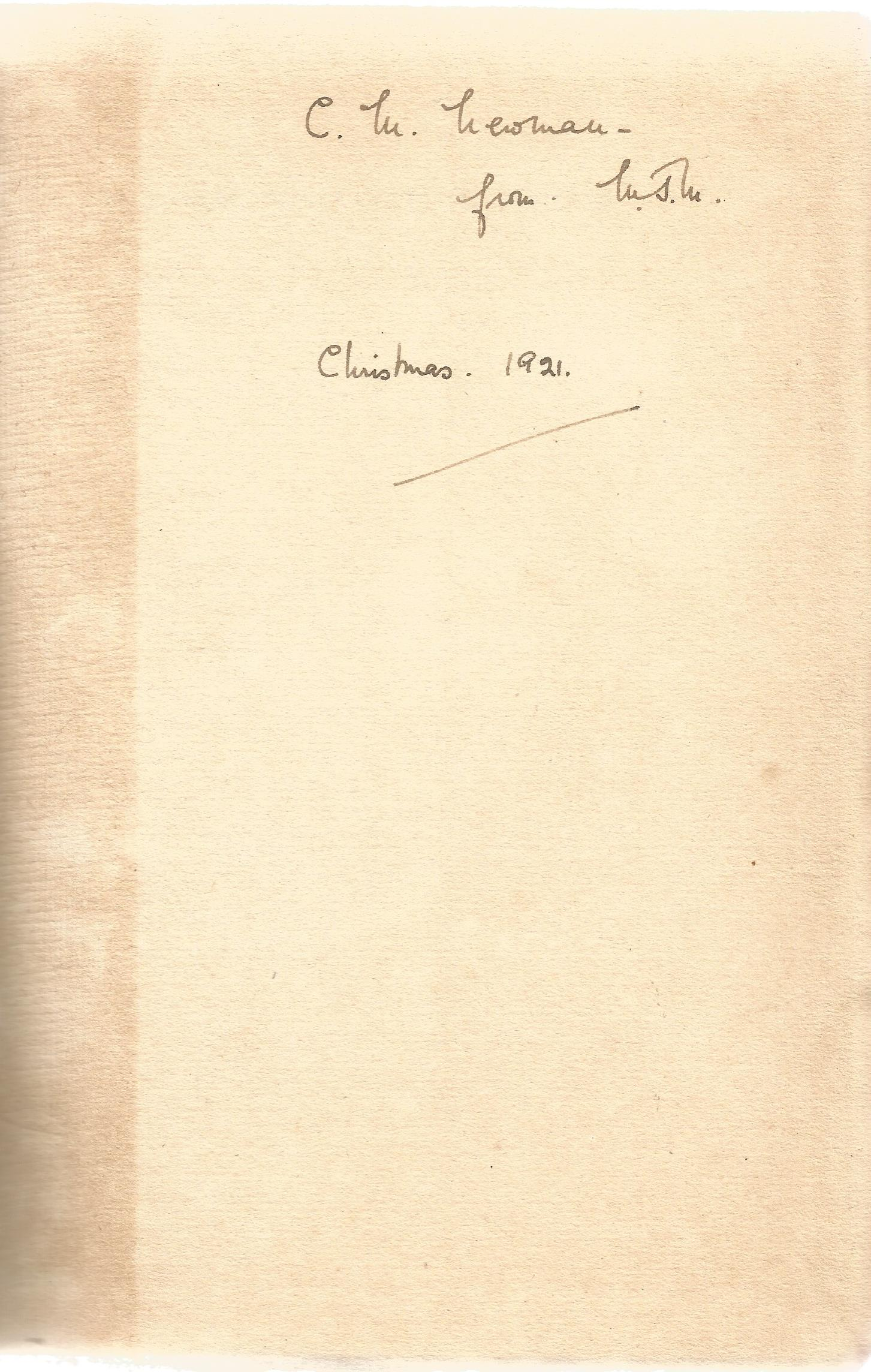 Signed Hardback Book The Veil And other Poems by Walter De La Mare dedicated & Initialled W D M - Image 4 of 4