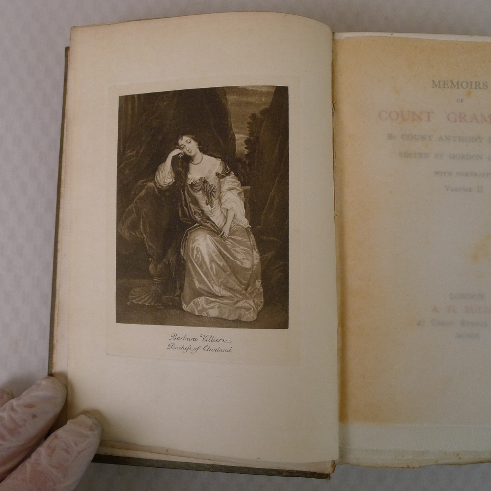 Memoirs of Count Grammont in two volumes by Count Anthony Hamilton with portraits, published by A - Image 7 of 8