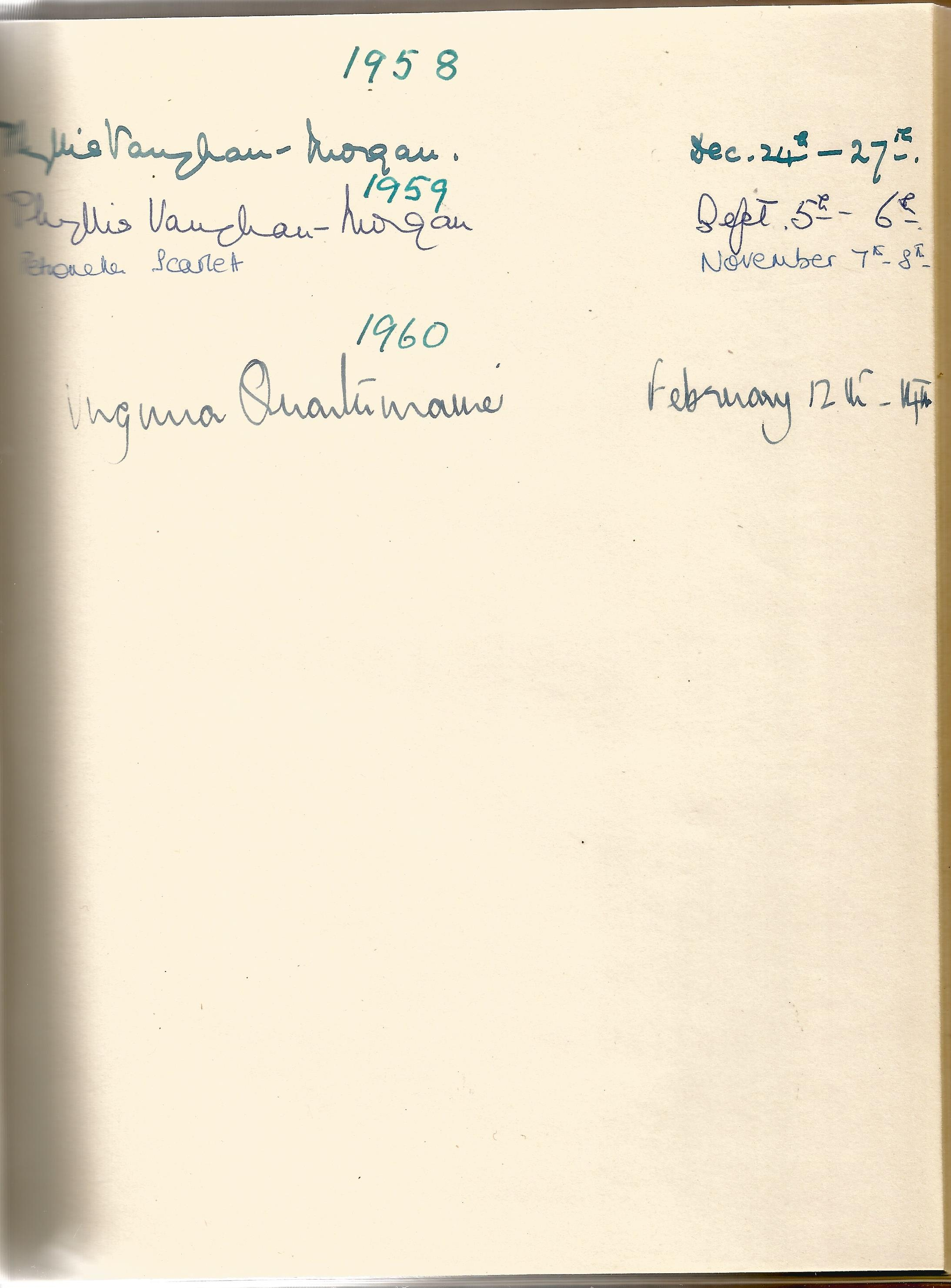 Hardback Book Expensively made visitors Book with slipcase JVM, EVM & 1949 in Gold Lettering on - Image 8 of 8