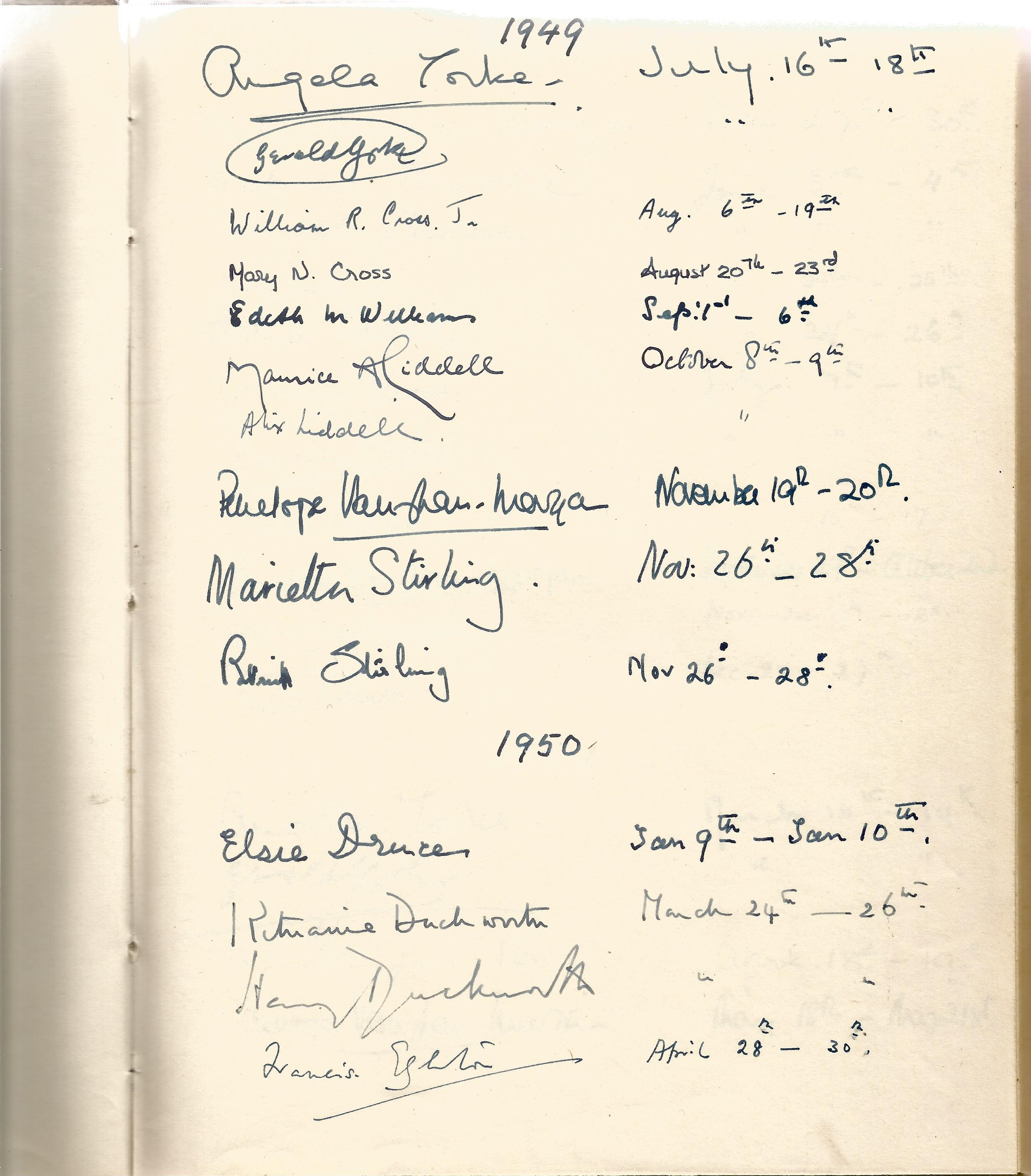 Hardback Book Expensively made visitors Book with slipcase JVM, EVM & 1949 in Gold Lettering on - Image 2 of 8