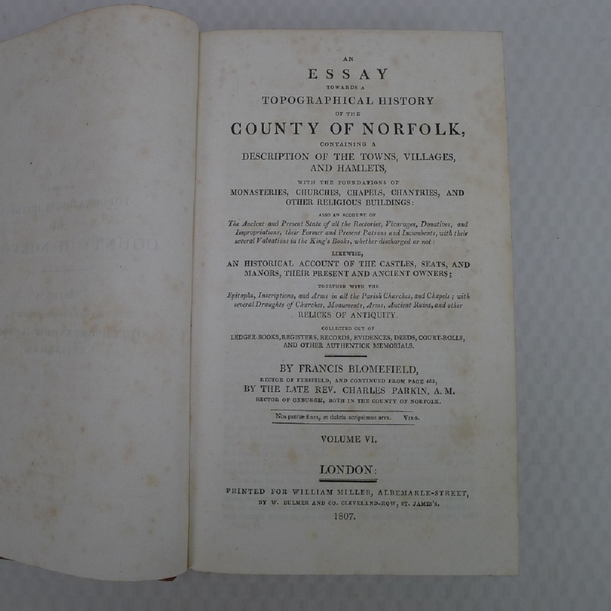 All 11 volumes of An Essay Towards the Topographical History of the County of Norfolk by Thomas - Image 15 of 23
