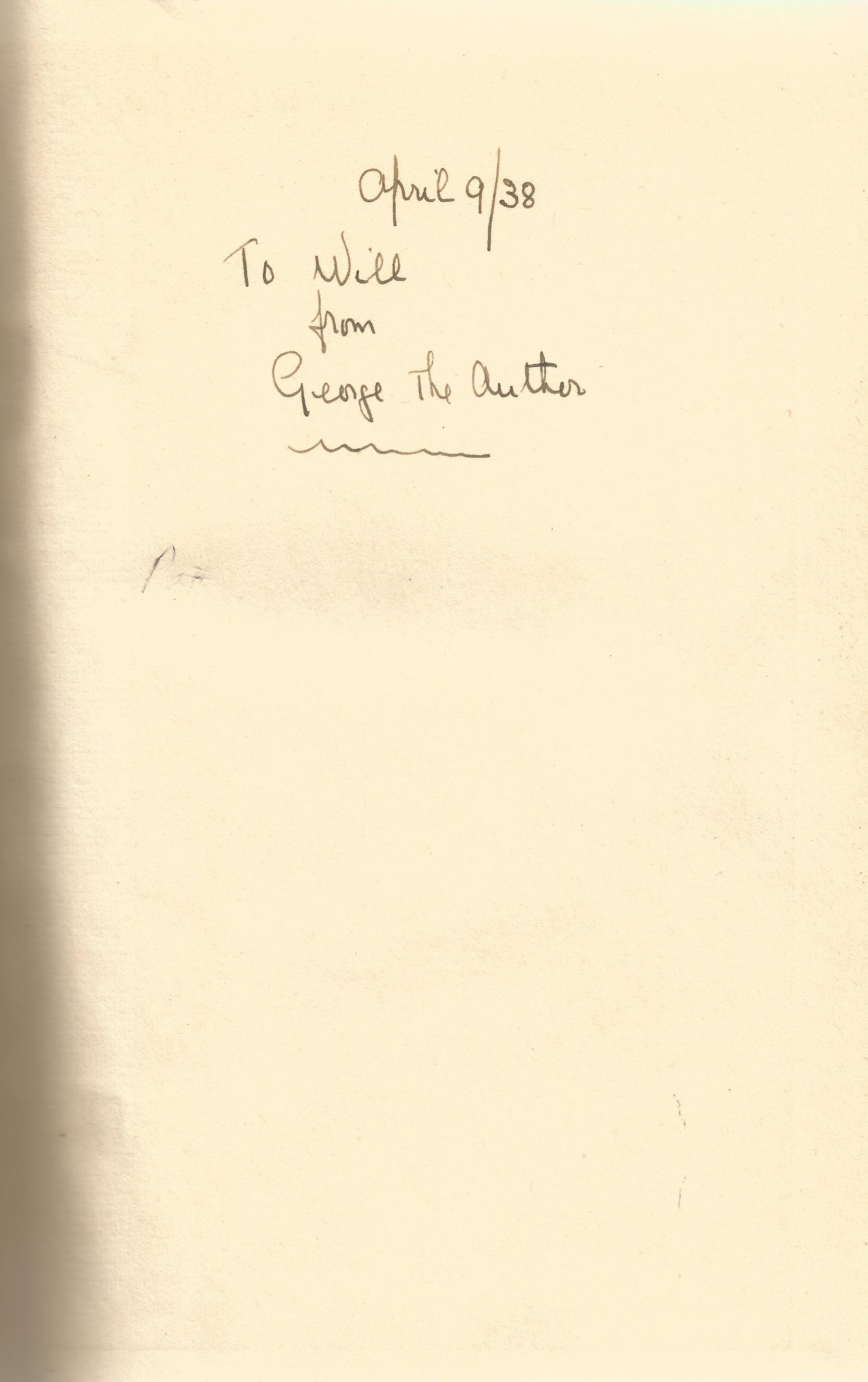 George Mozart signed hardback book Limelight. Signed inside page April 38 To Will from George the - Image 2 of 2