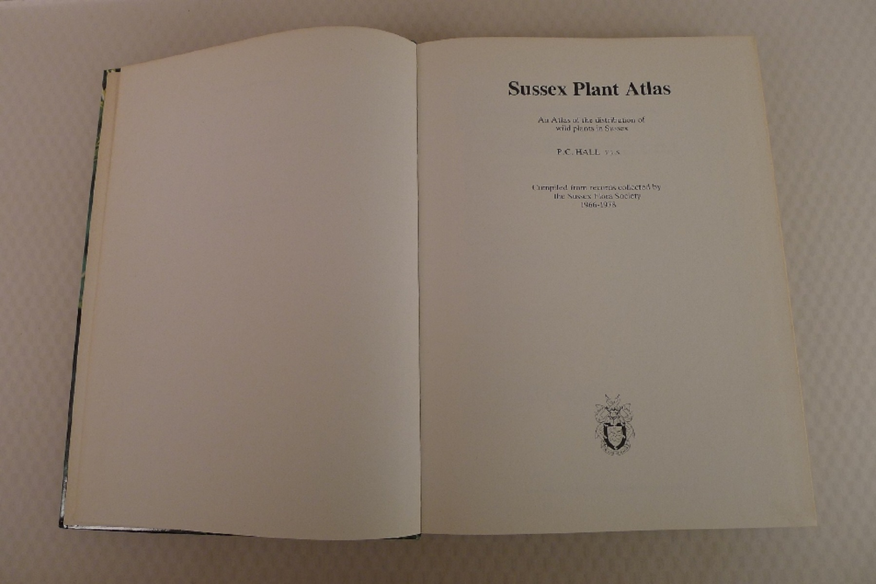 Sussex Plant Atlas by P C Hall published by Brighton Borough Council and Booth Museum of Natural - Image 4 of 4