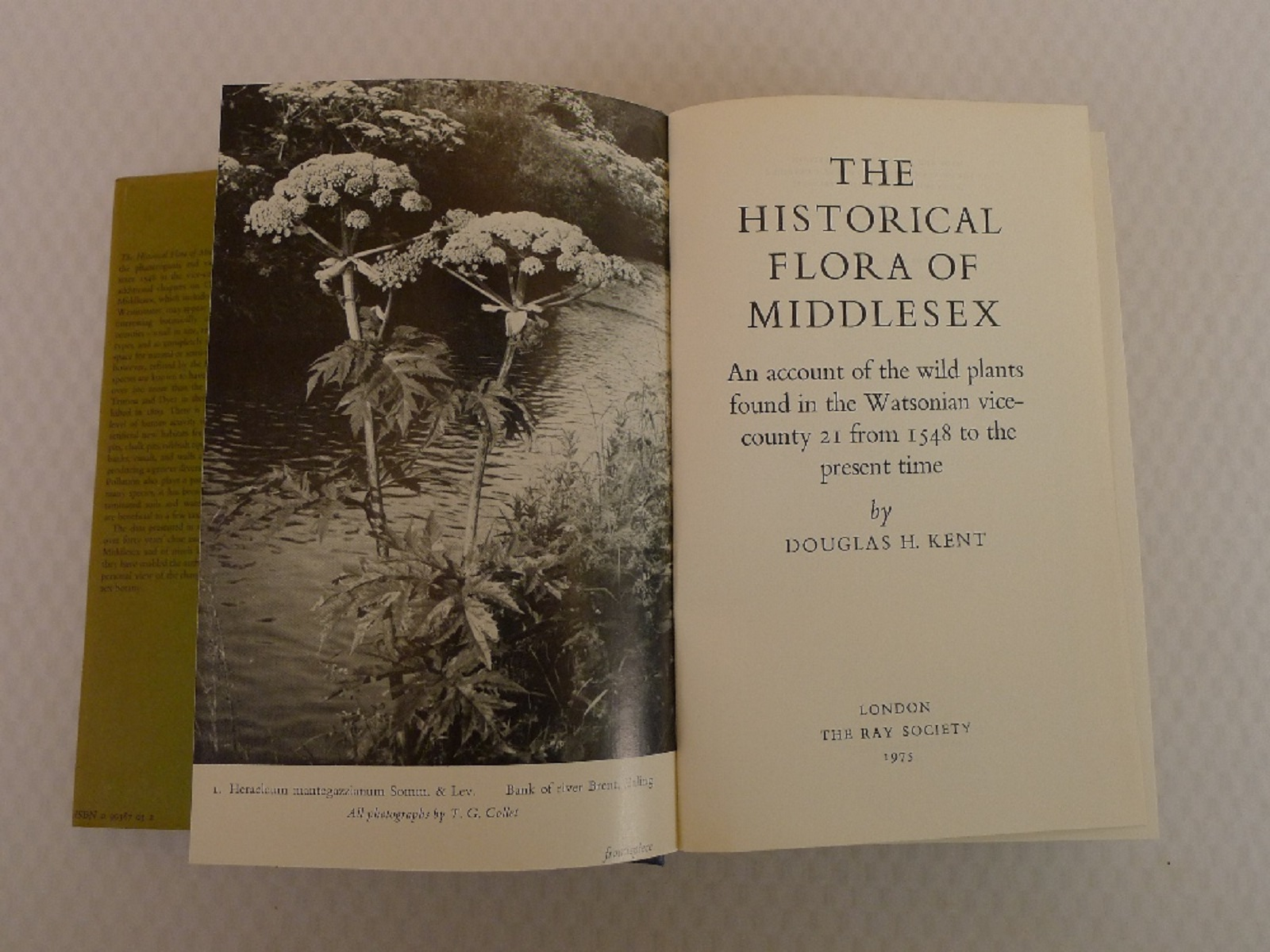 The Historical Flora of Middlesex An Account of the Wild Plants found in the Watsonian vice county - Image 6 of 6