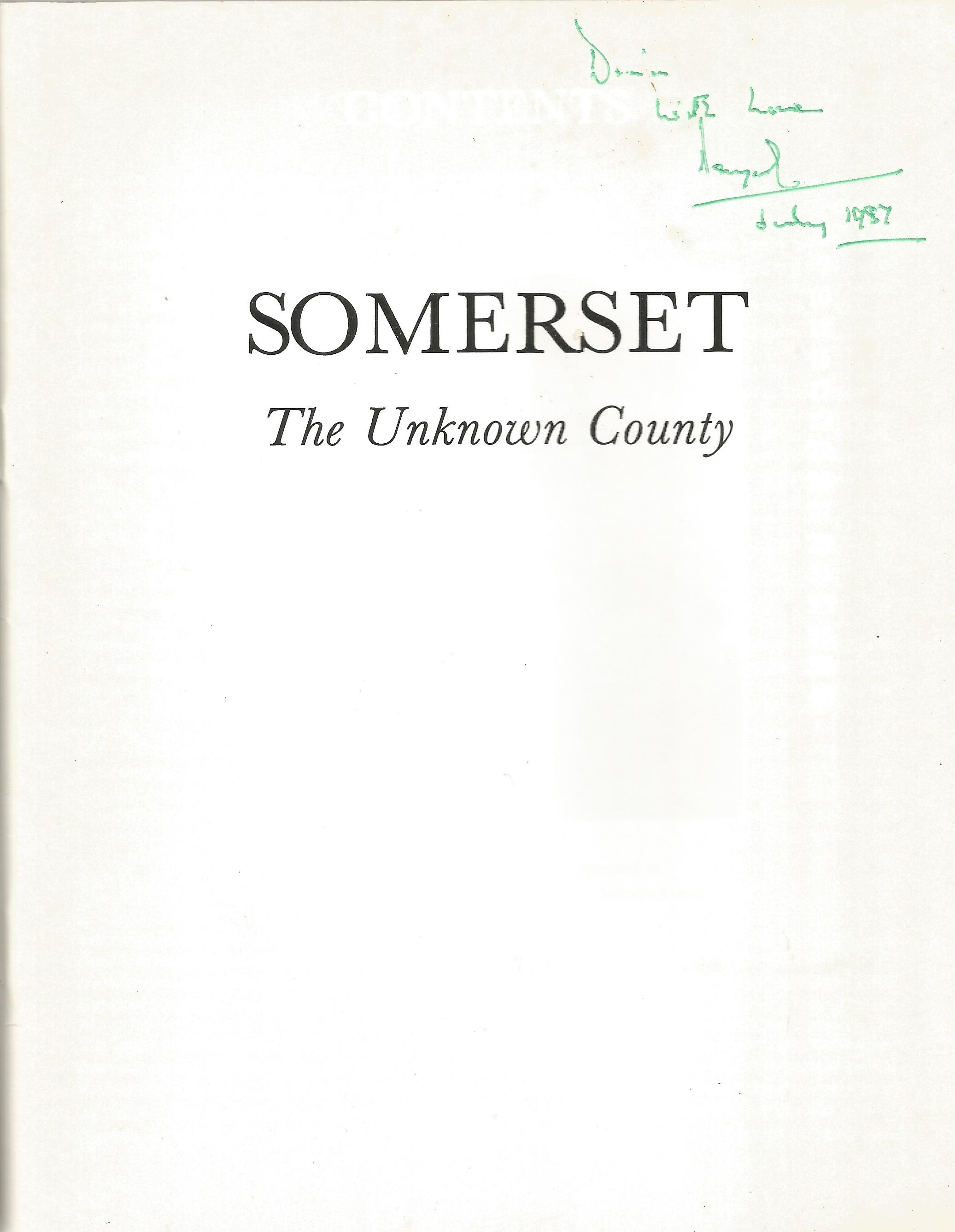 Dougal Duncan Paperback Book Somerset the unknown County signed by the Author on the First Page - Image 2 of 3