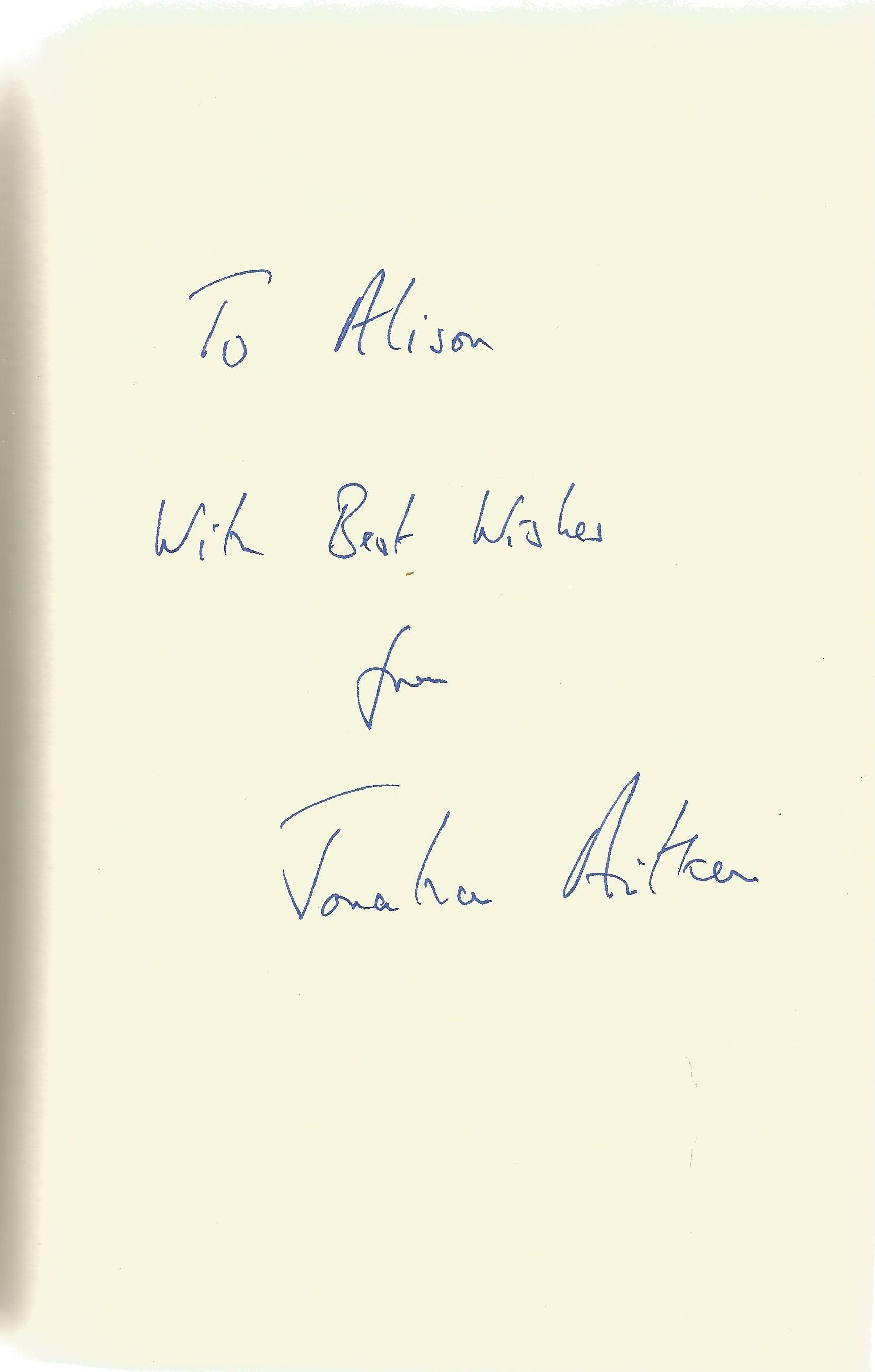 Jonathan Aitken Hardback Book Pride and Perjury signed by the Author on the First Page dust cover - Image 2 of 2