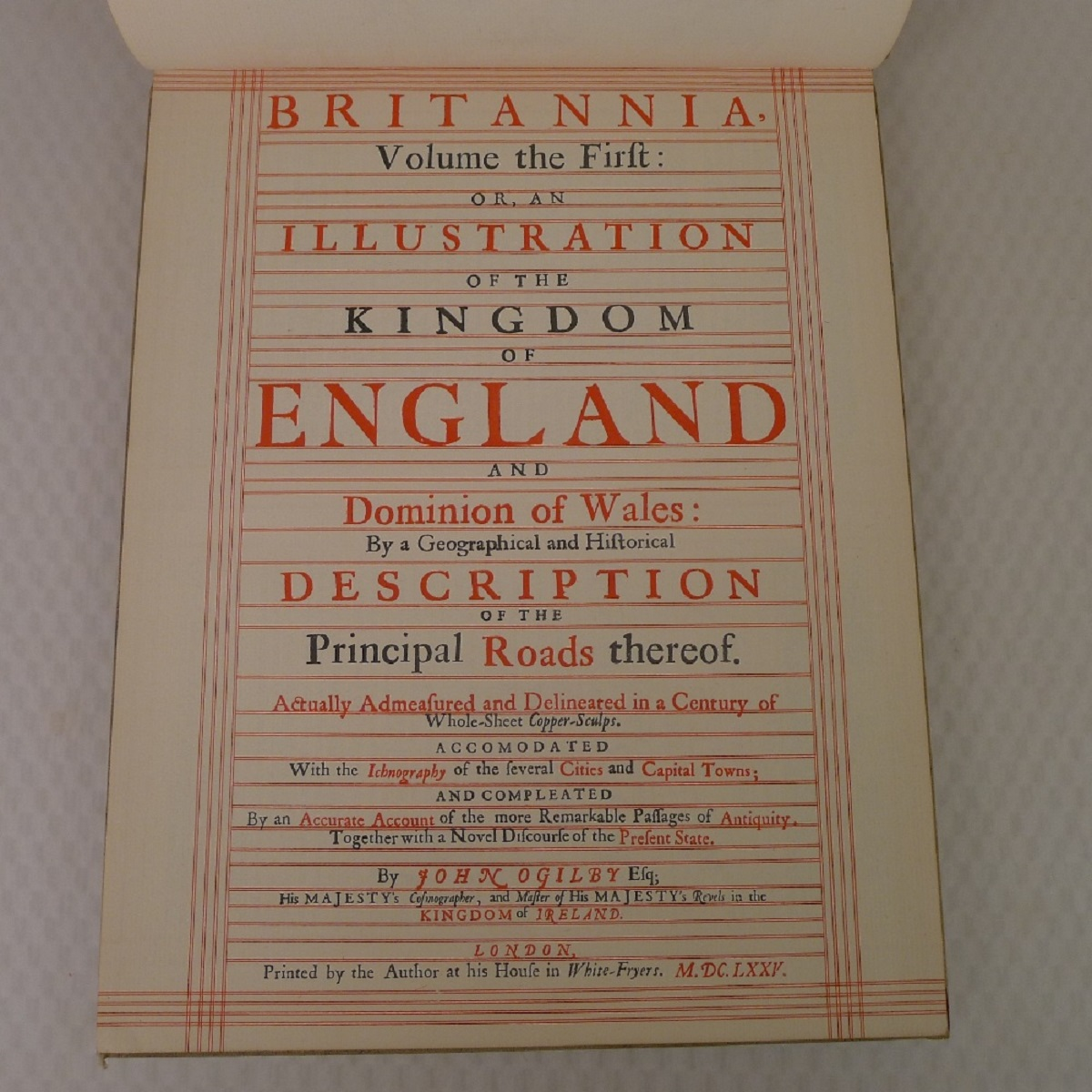 A facsimile reprint of Britannia: Volume The First or an Illustration of the Kingdom of England - Image 4 of 7