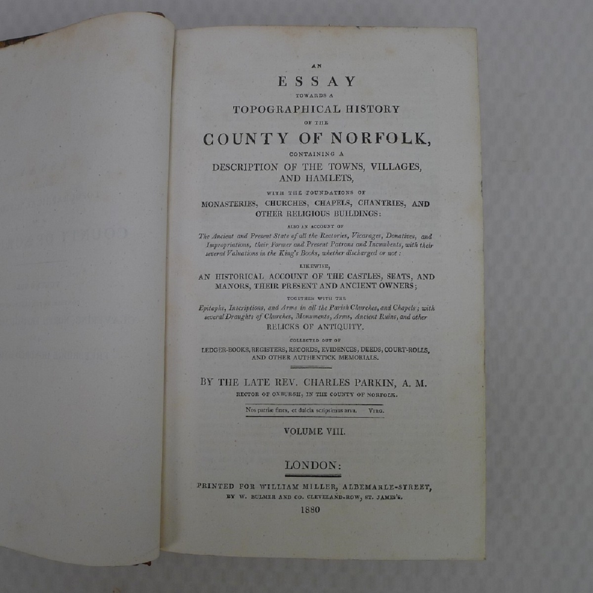 All 11 volumes of An Essay Towards the Topographical History of the County of Norfolk by Thomas - Image 17 of 23