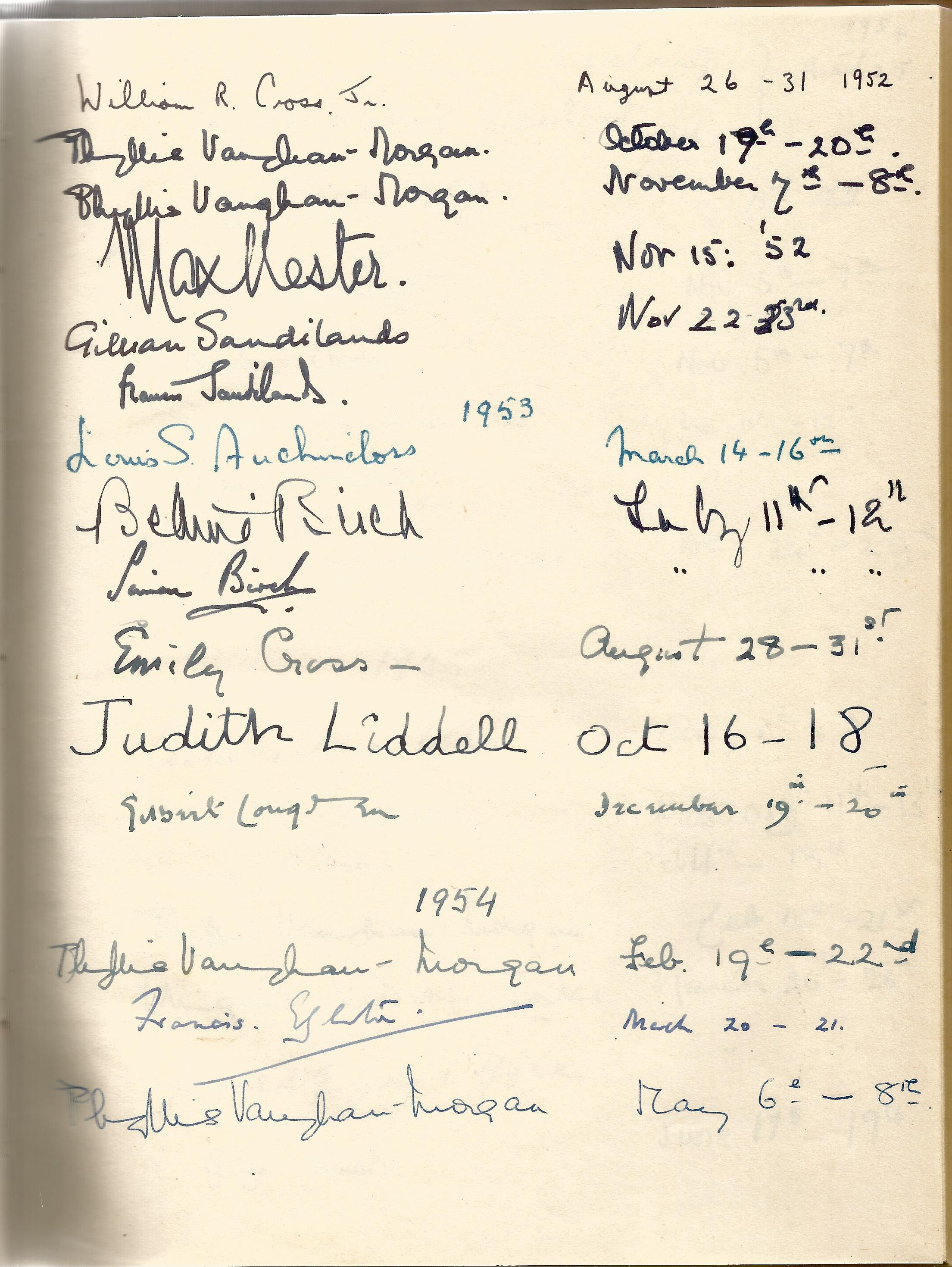 Hardback Book Expensively made visitors Book with slipcase JVM, EVM & 1949 in Gold Lettering on - Image 5 of 8