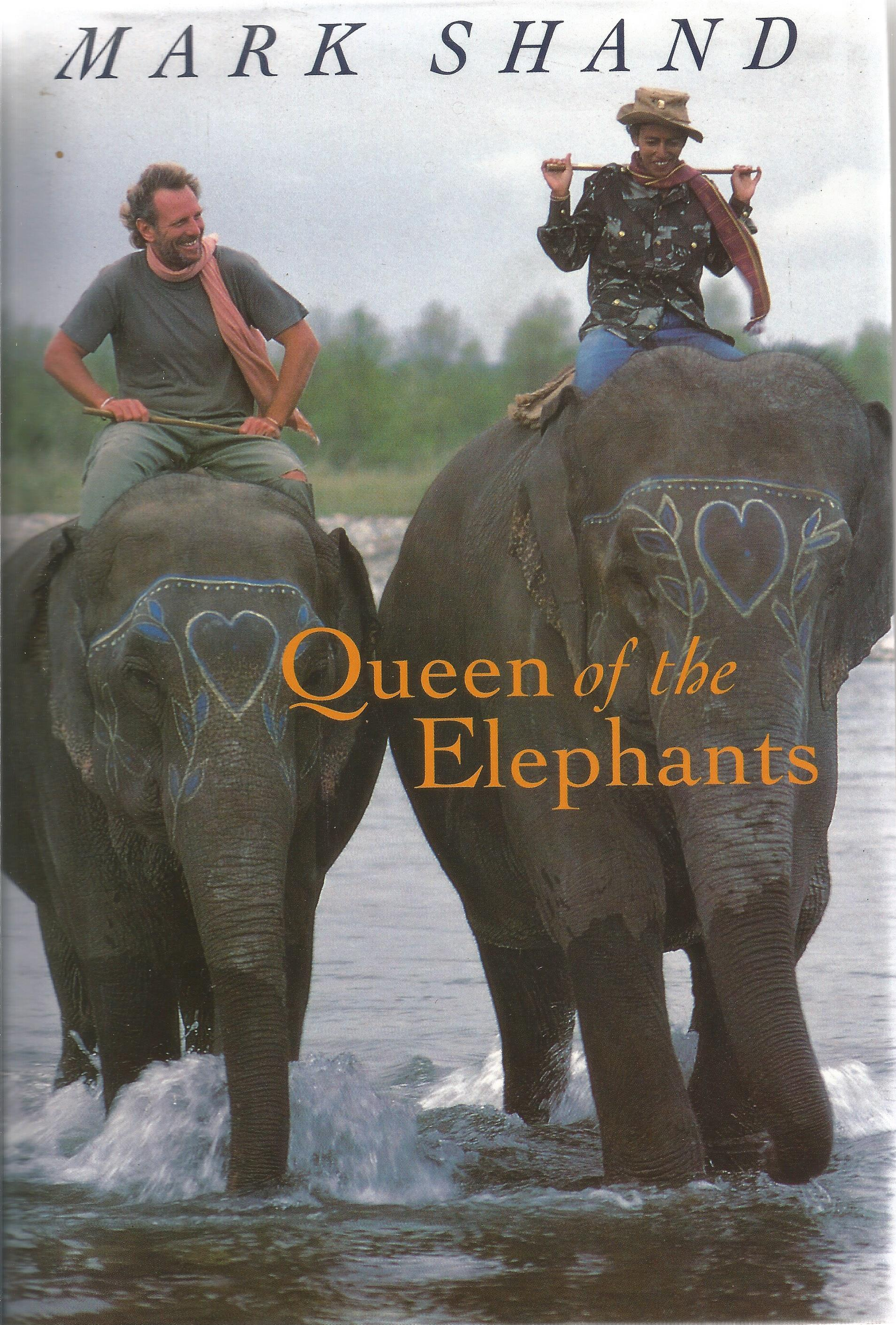 Mark Shand Hardback Book Queen of the Elephants signed by the Author on the Second Page For Diana
