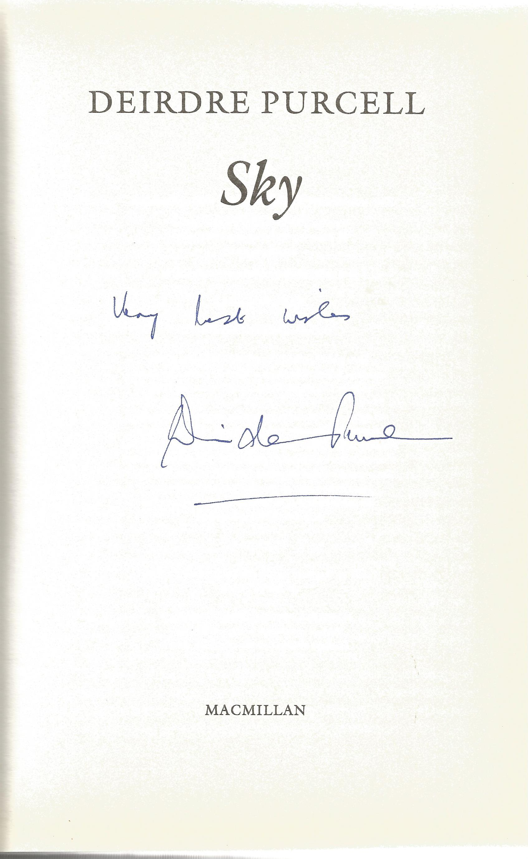 Deirdre Purcell Hardback Book Sky 1995 signed by the Author on the Title Page minor creasing at - Image 2 of 2