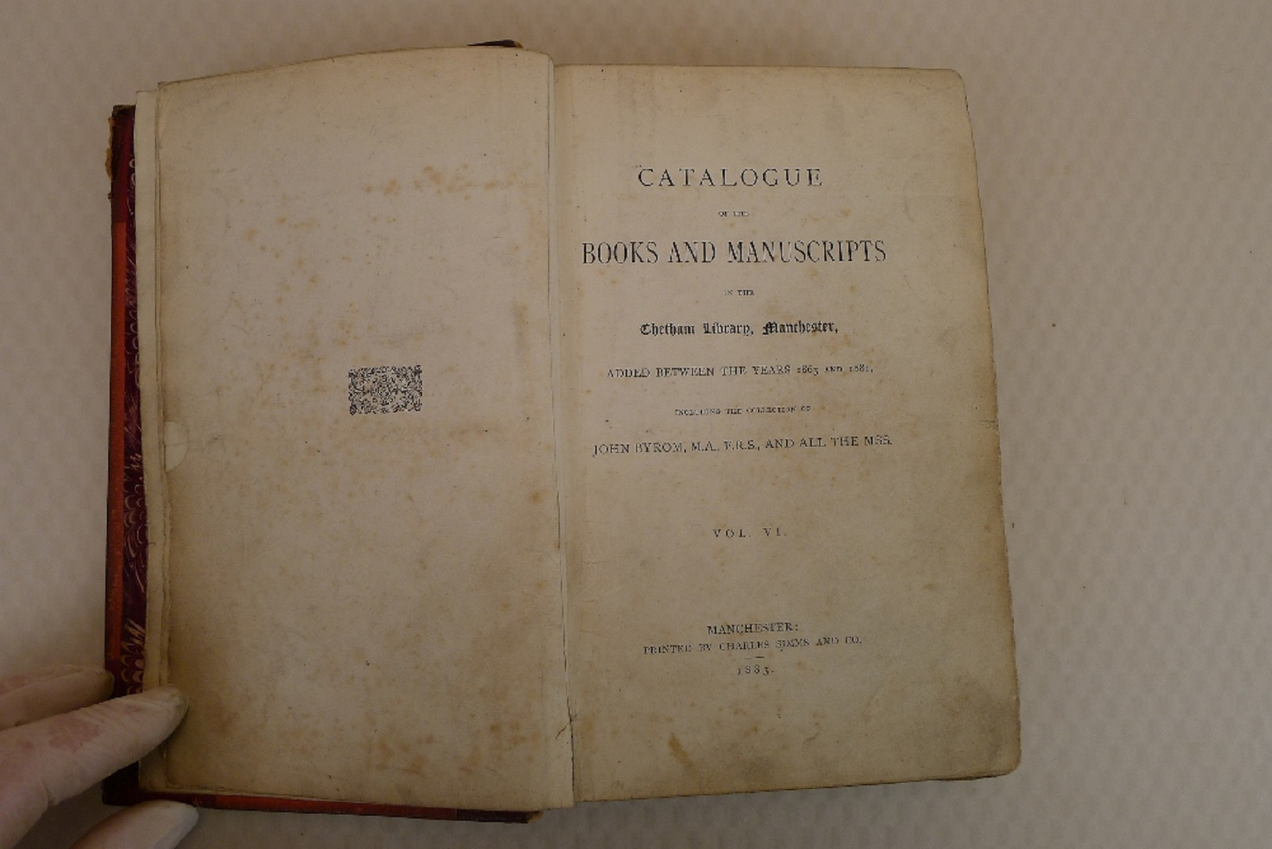 Volumes 1, 2, 3 and 6 of Bibliotheca Chethamensis (Catalogues of Books and Manuscripts) for the - Image 19 of 19