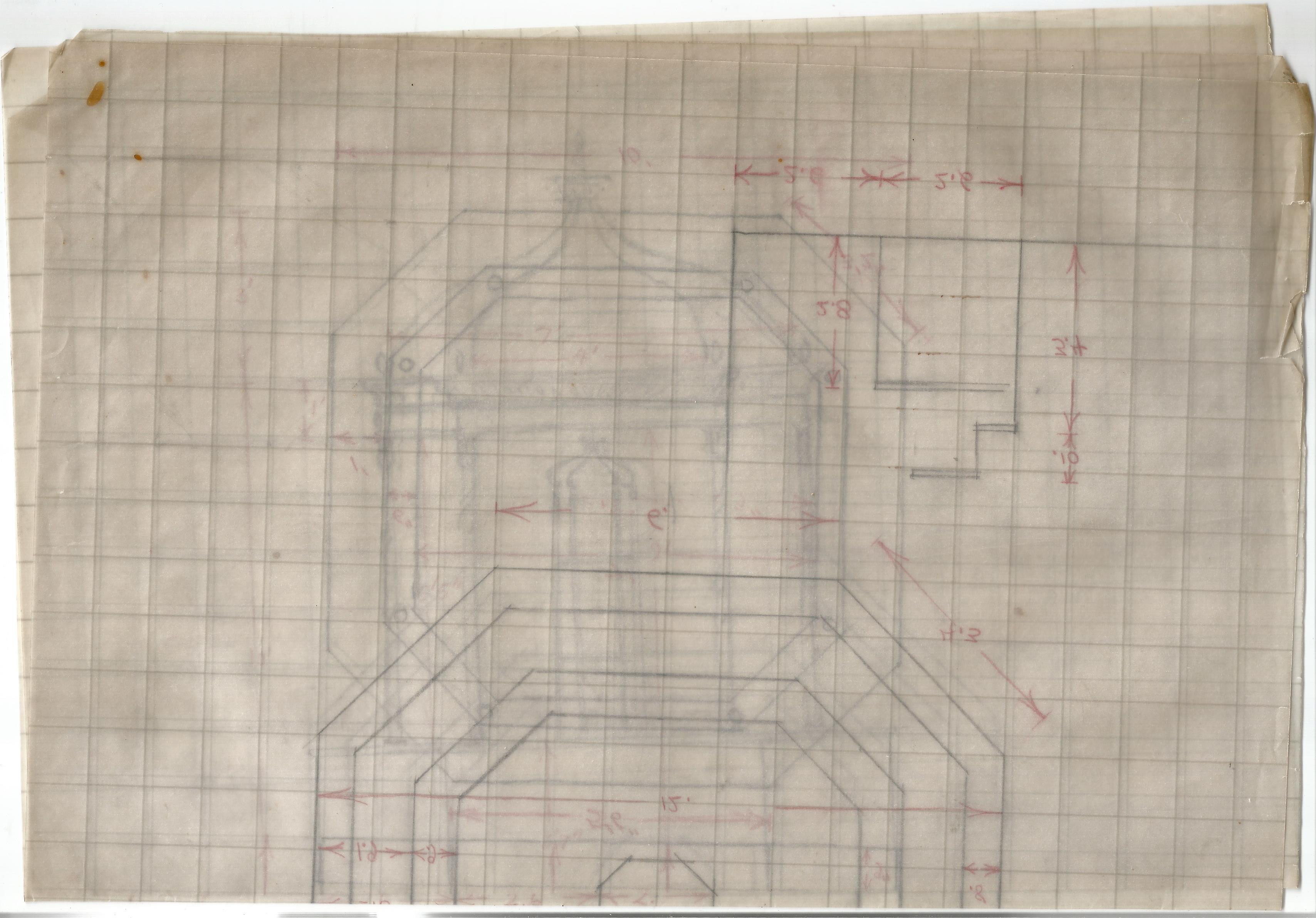 Architectural Drawings & Diagrams for Alterations at Bath Assembly Rooms in the 1960s Includes - Image 4 of 16
