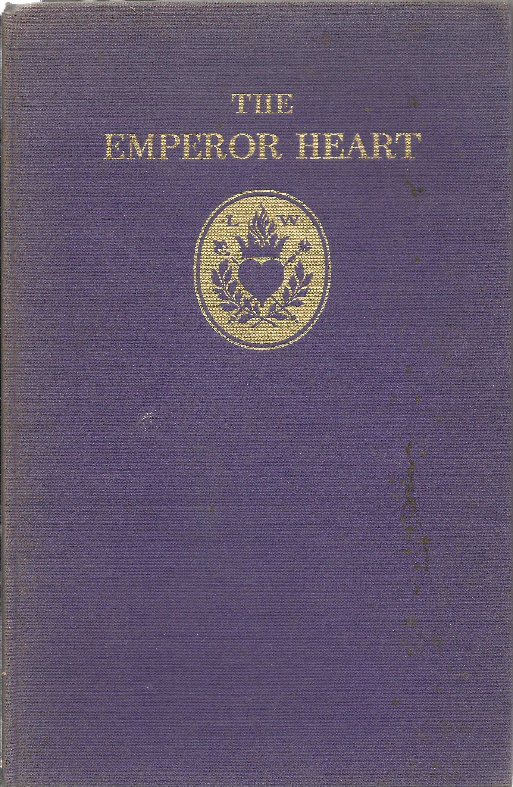 Laurence Whistler Hardback Book The Emperor Heart signed by the Author on the Second Page has a date