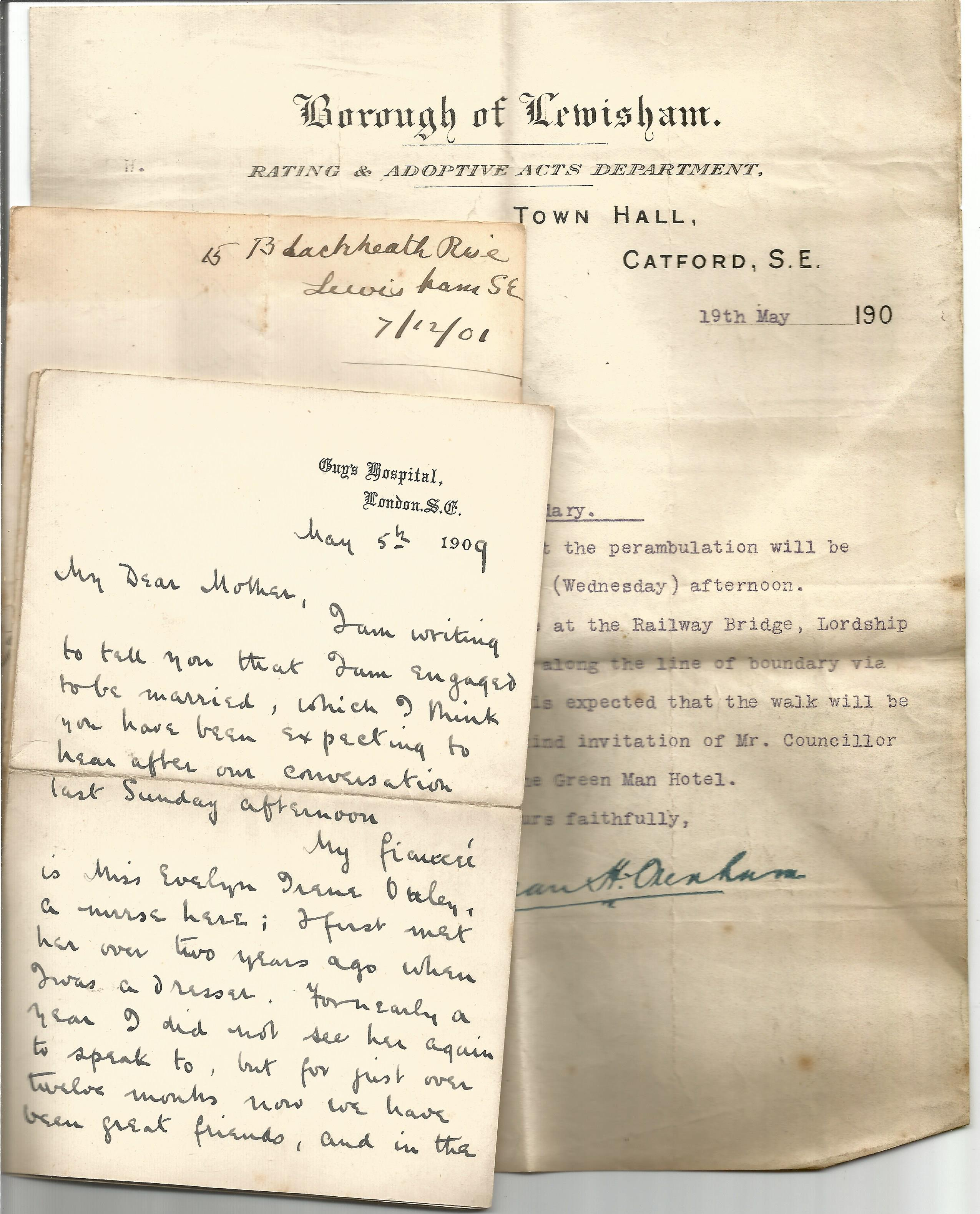 Victorian Personal Correspondence Collection various letters most to Edward and Alice Ball from - Image 2 of 5