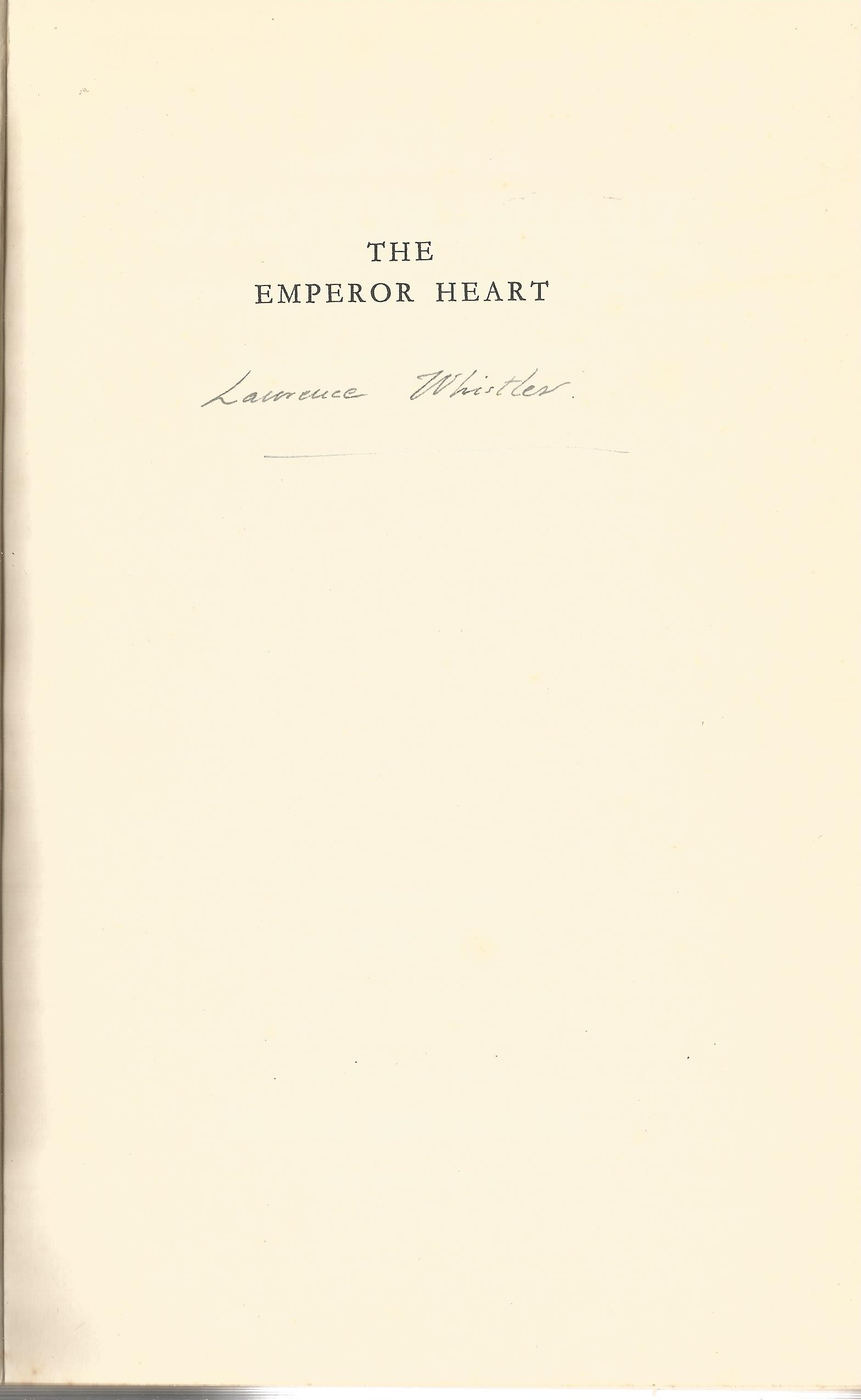 Laurence Whistler Hardback Book The Emperor Heart signed by the Author on the Second Page has a date - Image 2 of 2