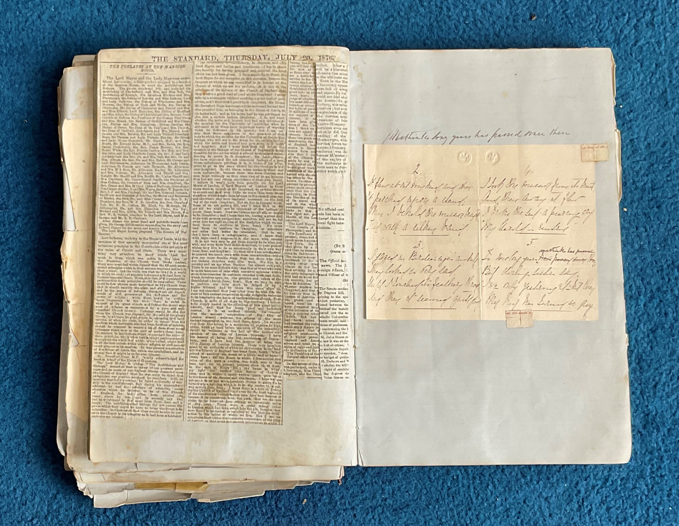 Victorian Scrapbook 1850s onwards containing a mixture of items Letters, Flyers, Photos & - Image 11 of 11