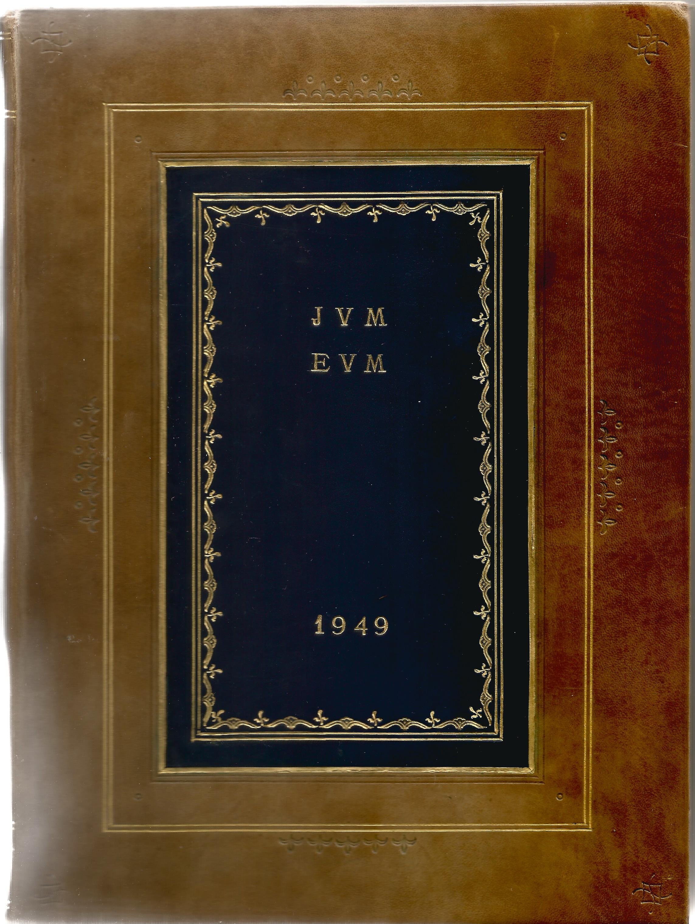 Hardback Book Expensively made visitors Book with slipcase JVM, EVM & 1949 in Gold Lettering on