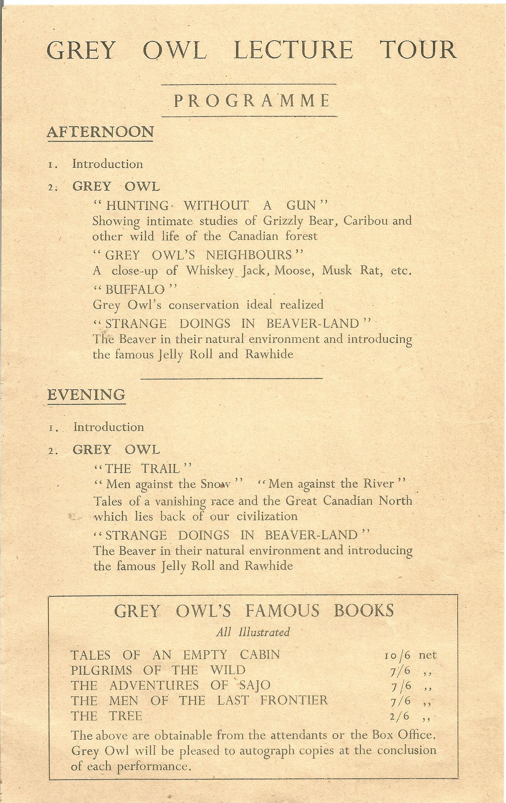 Hardback Book The Tree by Grey Owl (Wa Sha Quon Asin) 1937 First Edition published by Lovat - Image 6 of 6