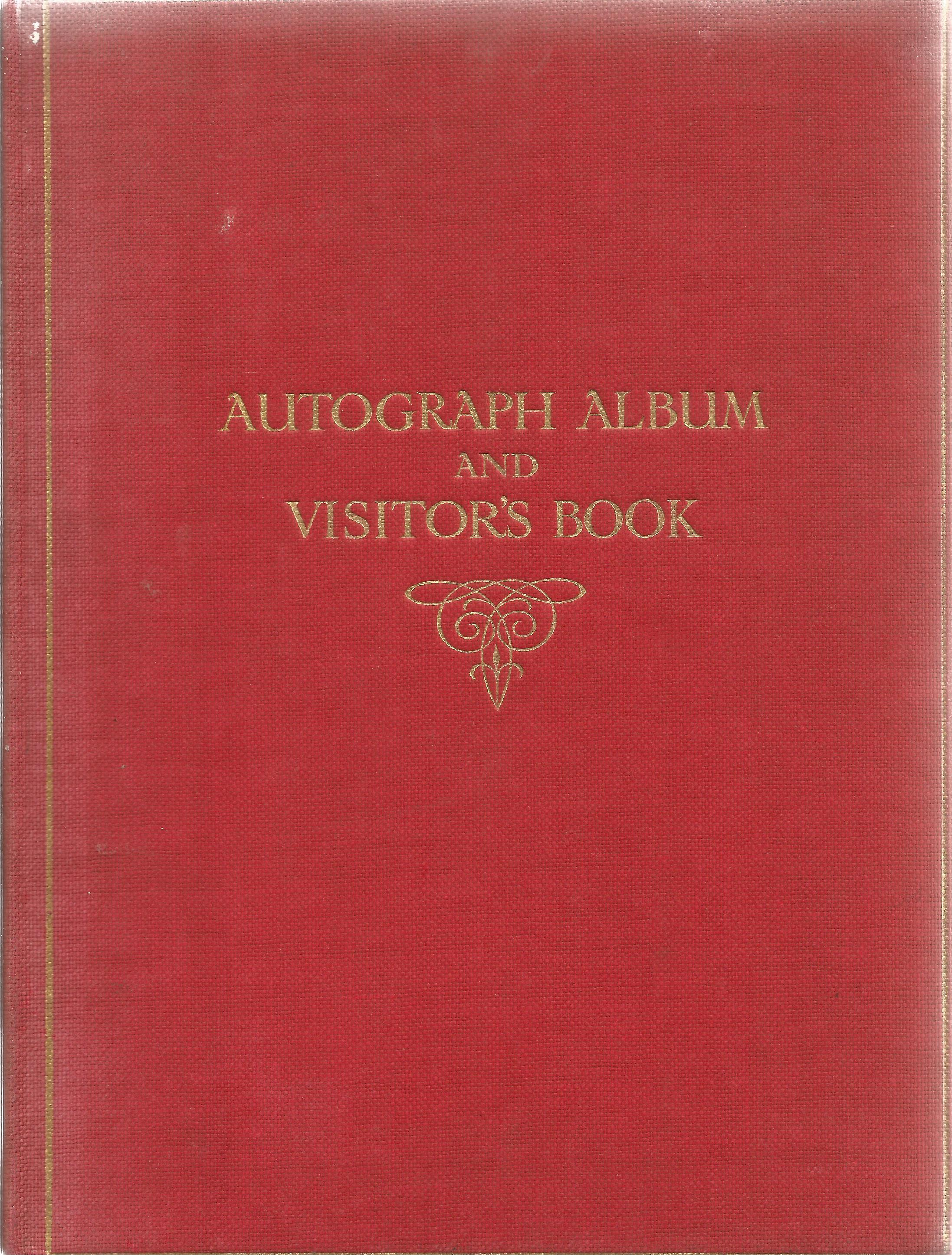Autograph Album with Printed Pencil Drawings George & Dragon, Heraldic Emblems, Building & Masonic