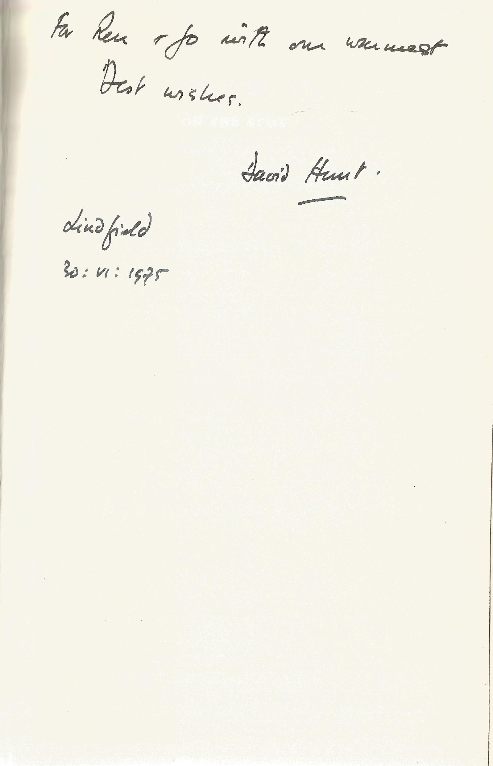 Sir David Hunt Hardback Book On the Spot signed by the Author on the First Page and dated 30th - Image 2 of 2