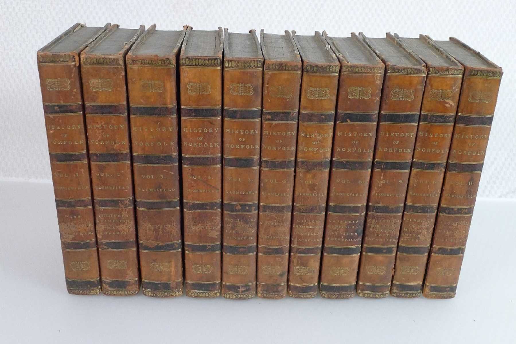 All 11 volumes of An Essay Towards the Topographical History of the County of Norfolk by Thomas