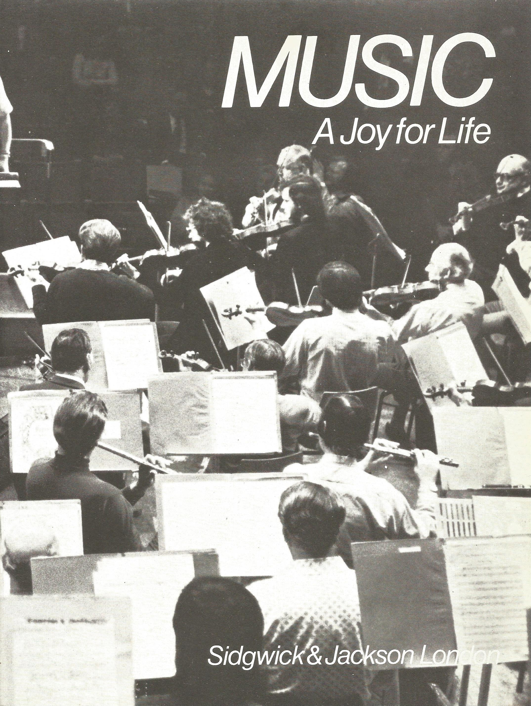 Edward Heath Signed Hardback Book Music A Joy for Life First Edition 1976 published by Sidgwick & - Image 2 of 4