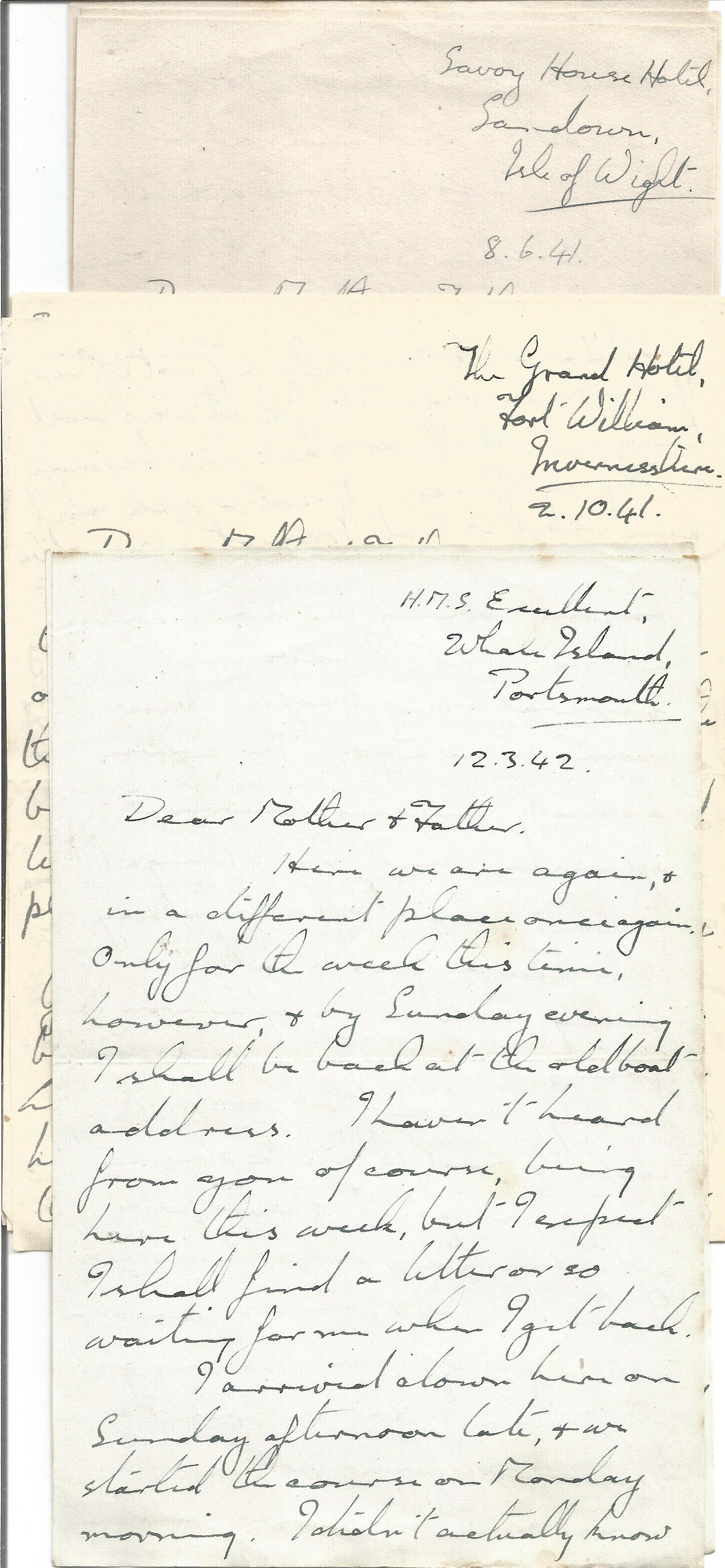 Wartime Correspondence Collection from a crew member of H. M. S. Scimitar plus other WW2 letters, - Image 3 of 4
