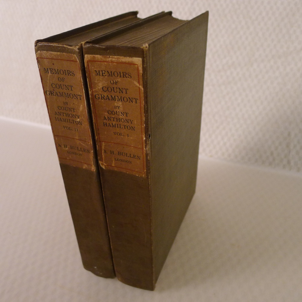 Memoirs of Count Grammont in two volumes by Count Anthony Hamilton with portraits, published by A