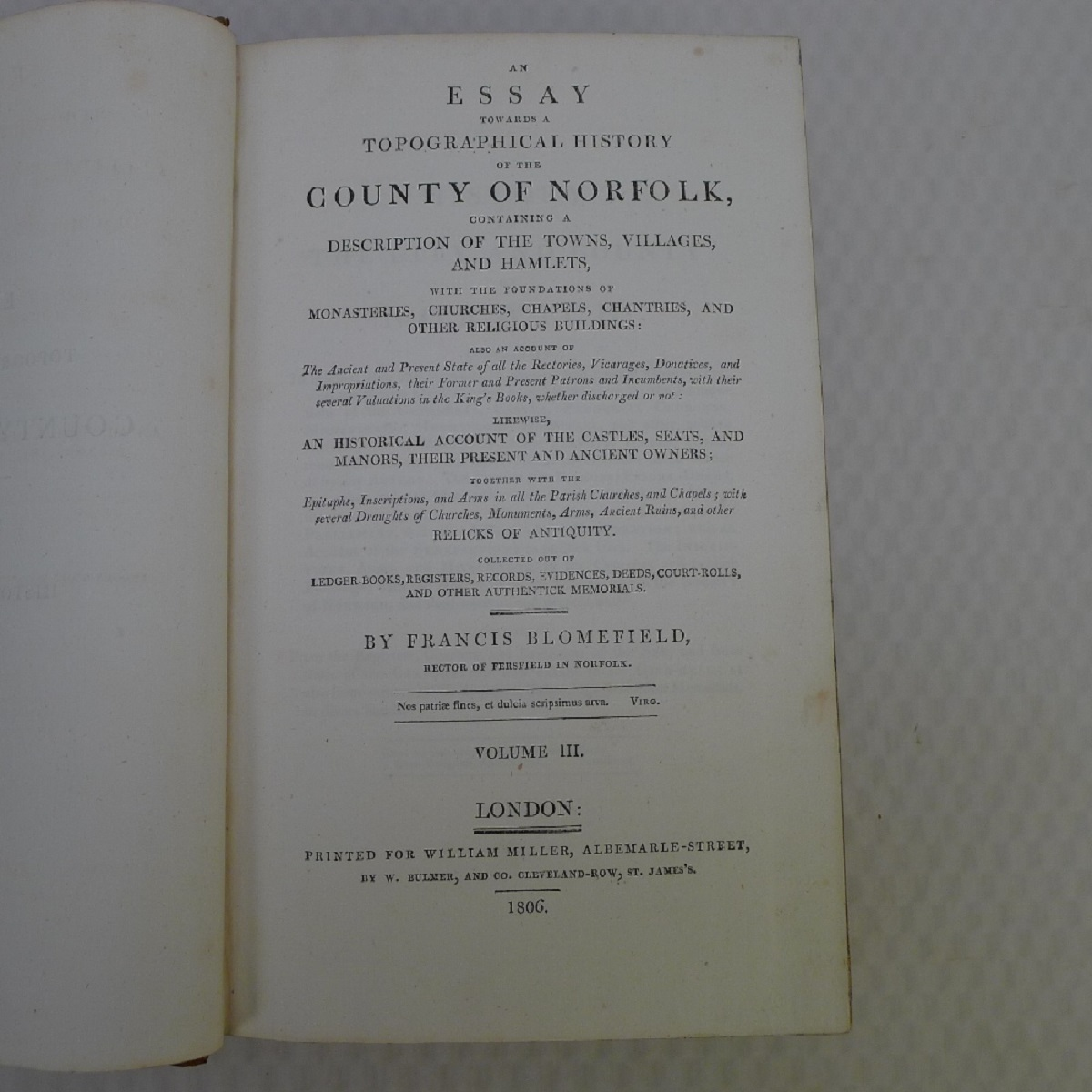 All 11 volumes of An Essay Towards the Topographical History of the County of Norfolk by Thomas - Image 11 of 23