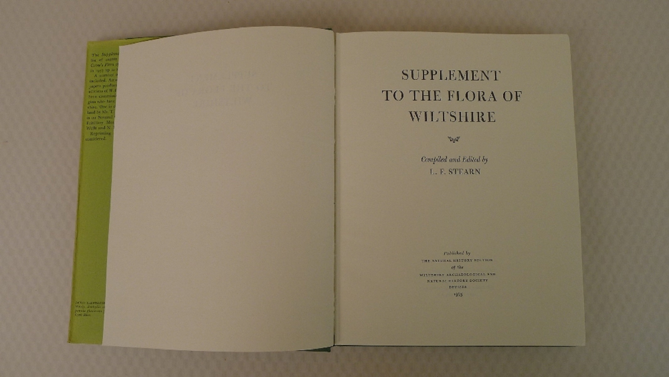 The Flora of Wiltshire by Donald Grose published by the Natural History Section of The Wiltshire - Image 6 of 8