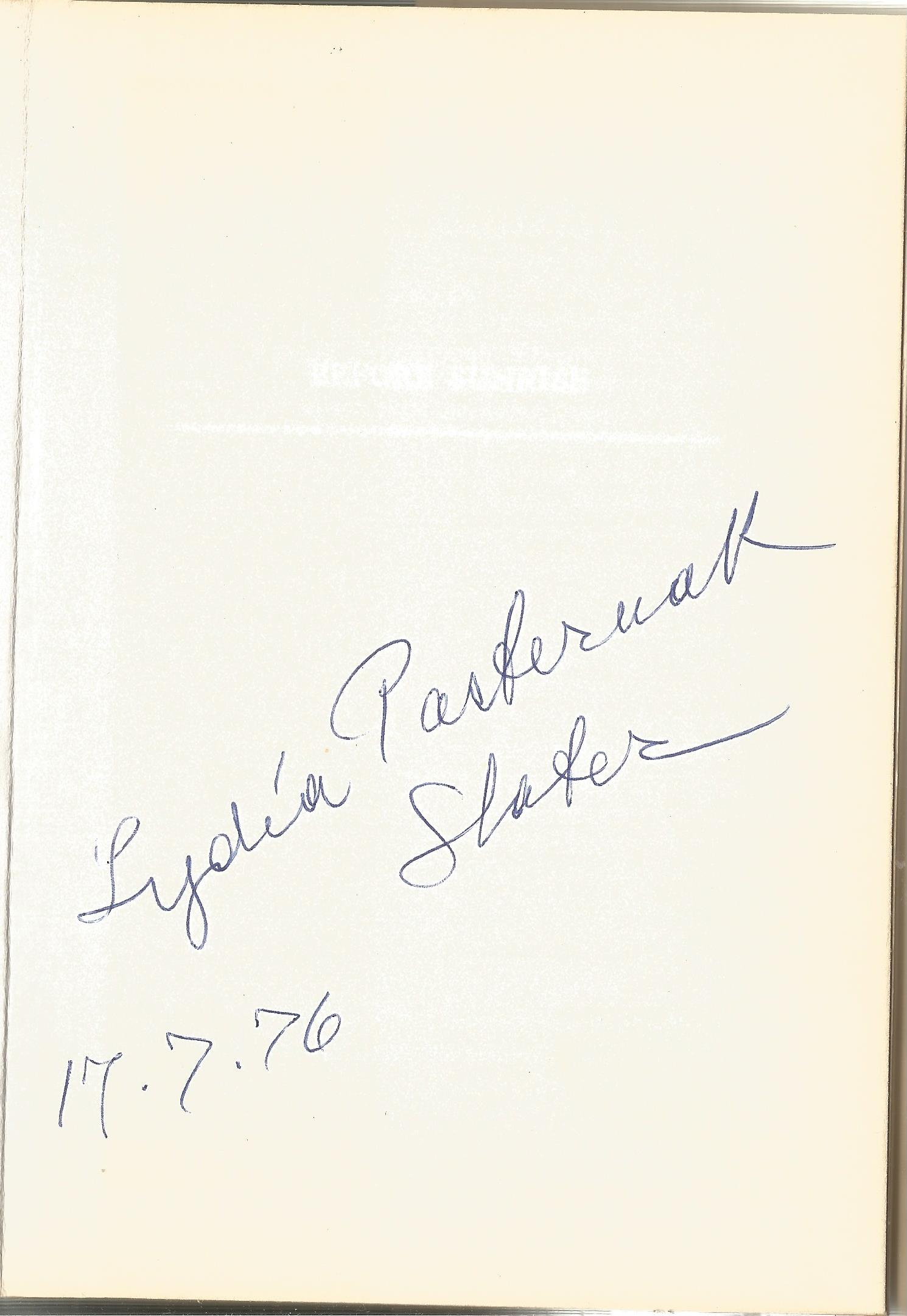 Lydia Pasternak Slater Hardback Book Before Sunrise signed by the Author on the First Page and dated - Image 2 of 2