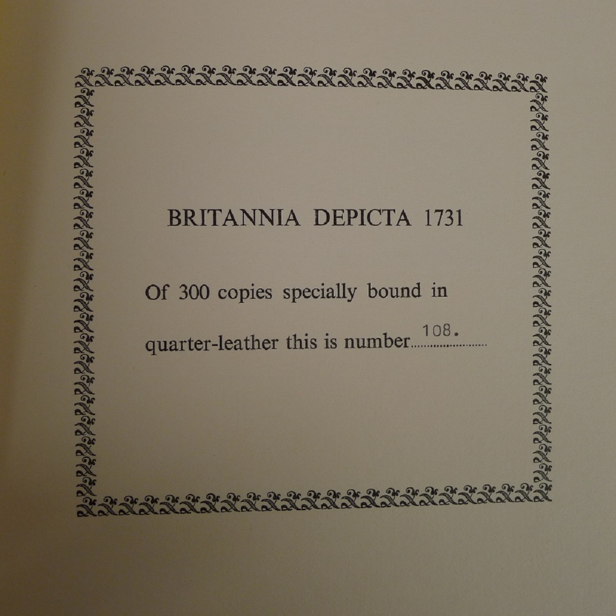 A facsimile reprint of Britannia Depicta 1731 by Emmanuel Bowen published by Britannia - Image 5 of 7