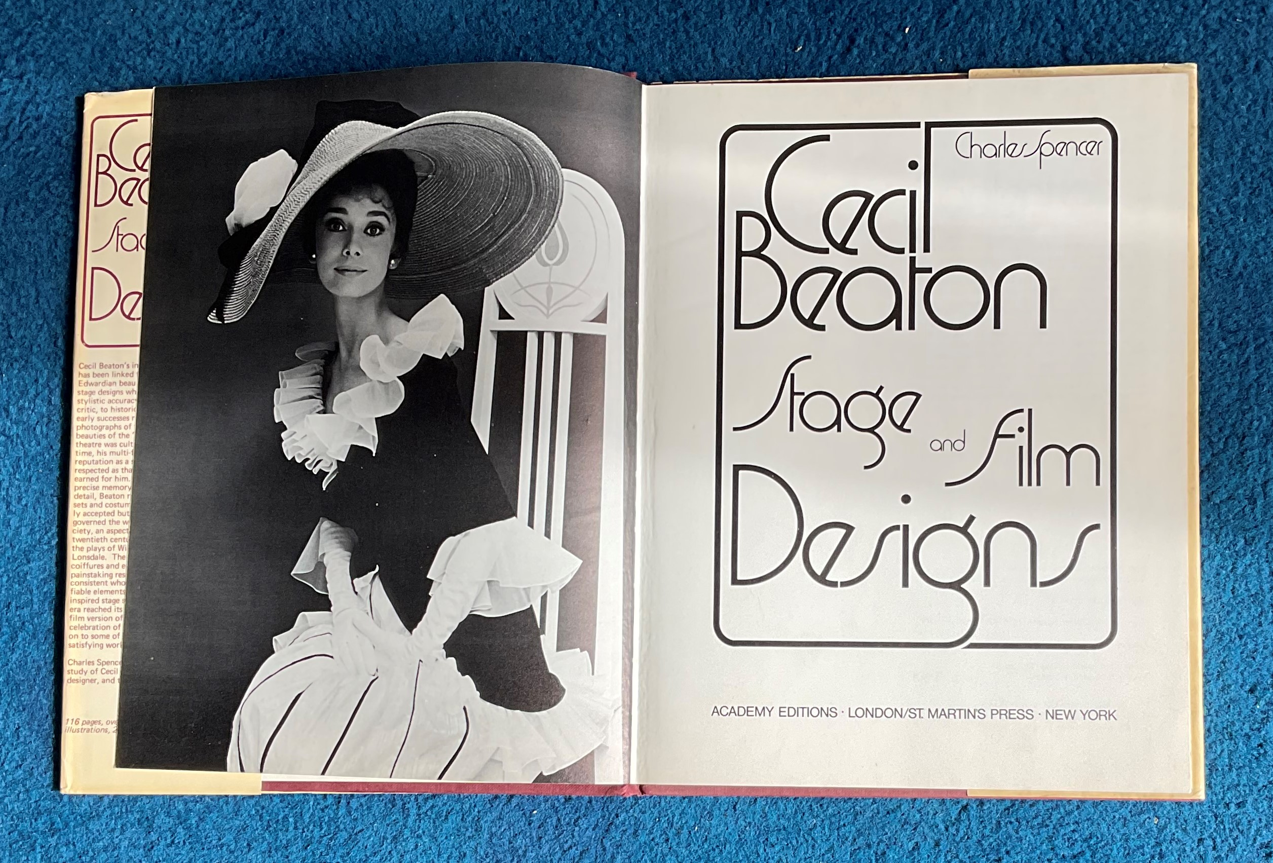 Hardback Book Cecil Beaton Stage and Film Designs by Charles Spencer 1975 First Edition published by - Image 2 of 3