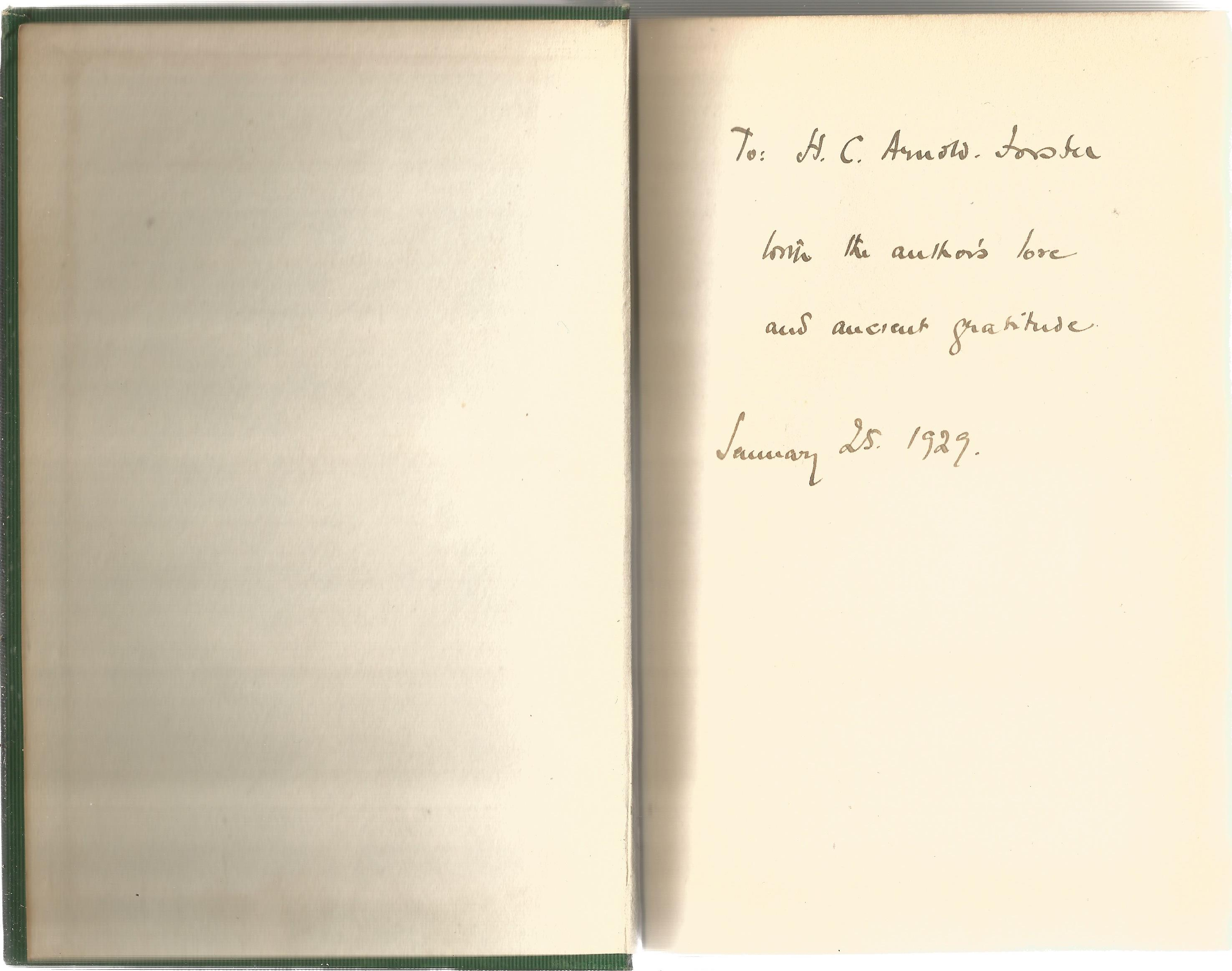Portrait in a Mirror author signed vintage hardback book written by Charles Morgan. Published in - Image 2 of 3