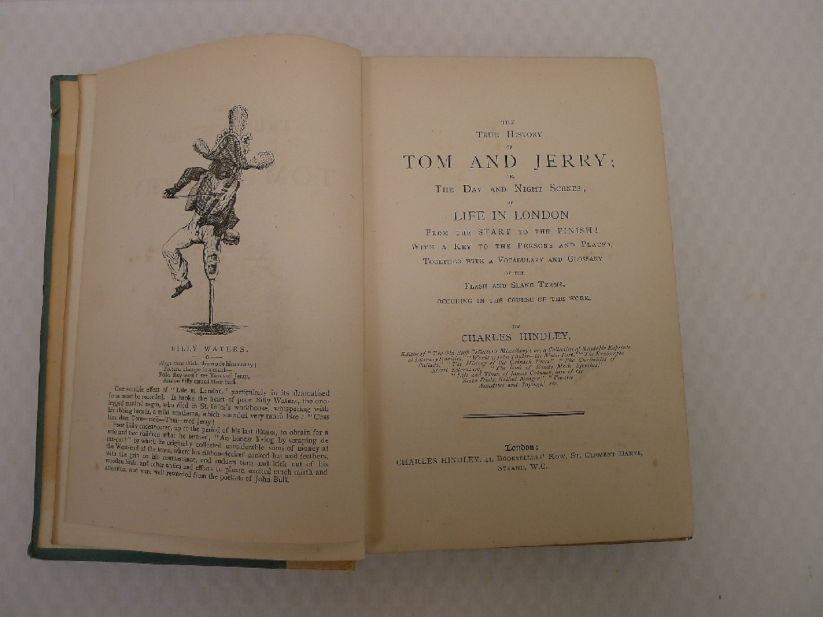 The True History of Tom and Jerry by Charles Hindley published in London circa 1892, bound in